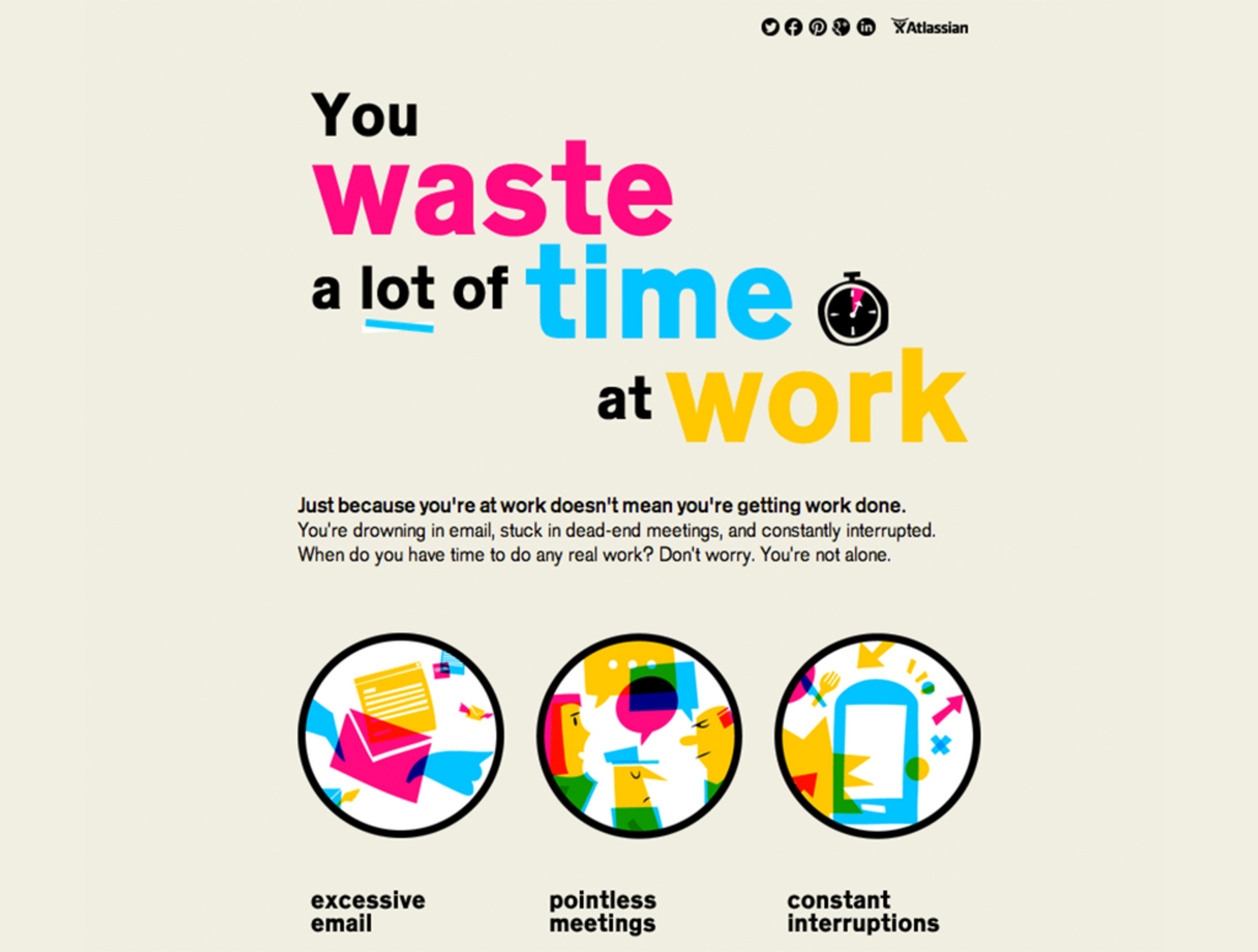 You Waste a Lot of Time at Work — Information is Beautiful Awards