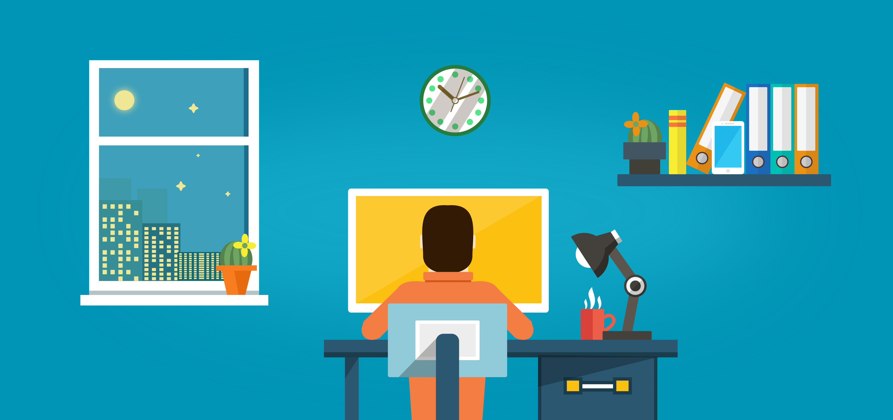 Worker at the Desk - Working at Home, Adult, Overload, Rating, Provider, HQ Photo