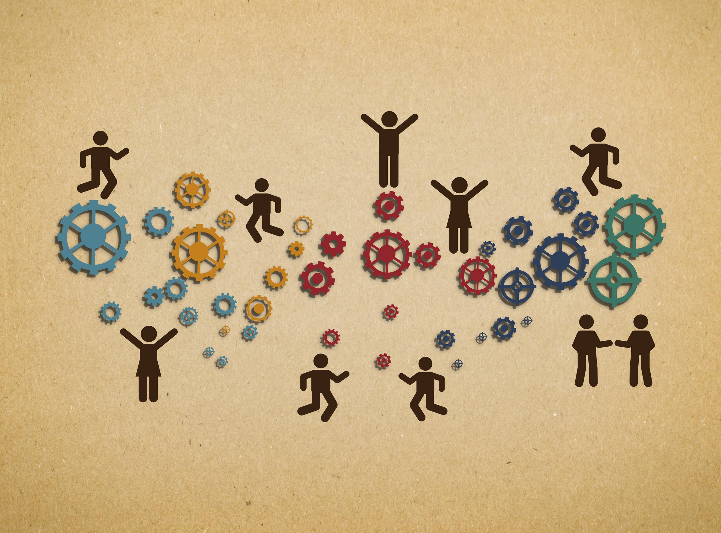 Workforce teamwork within an organization photo