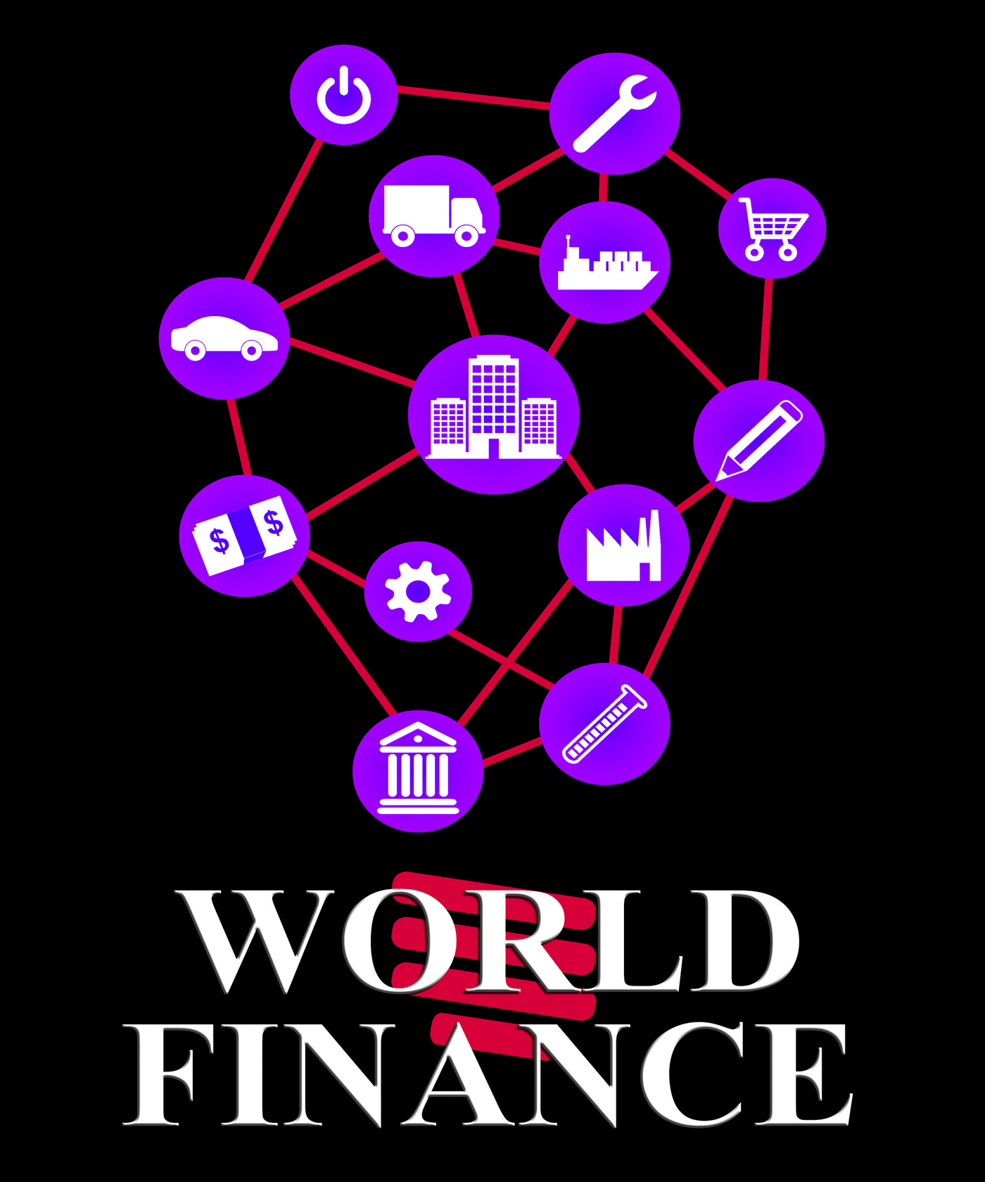 World finance represents globalisation money and profit photo