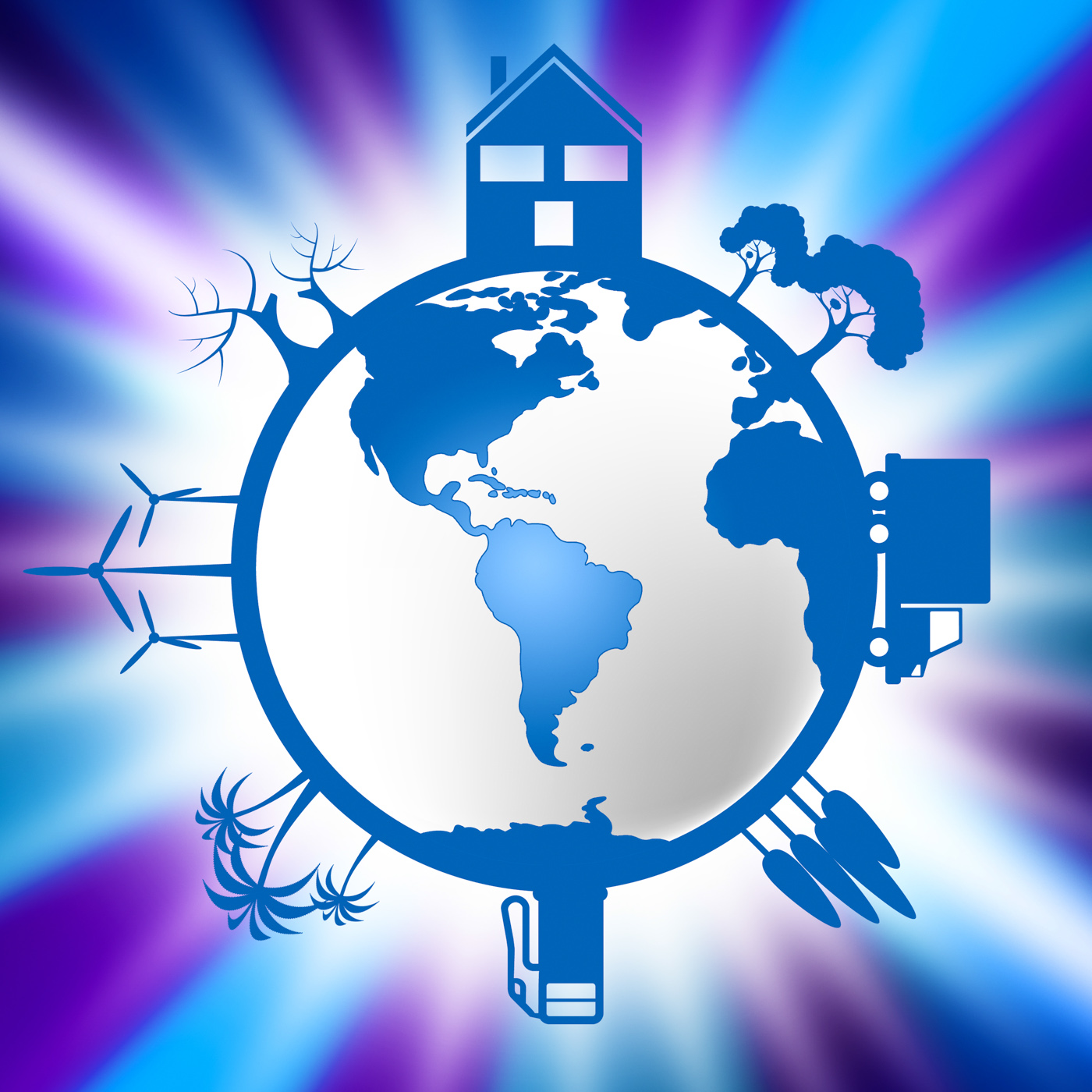World global indicates eco friendly and conservation photo