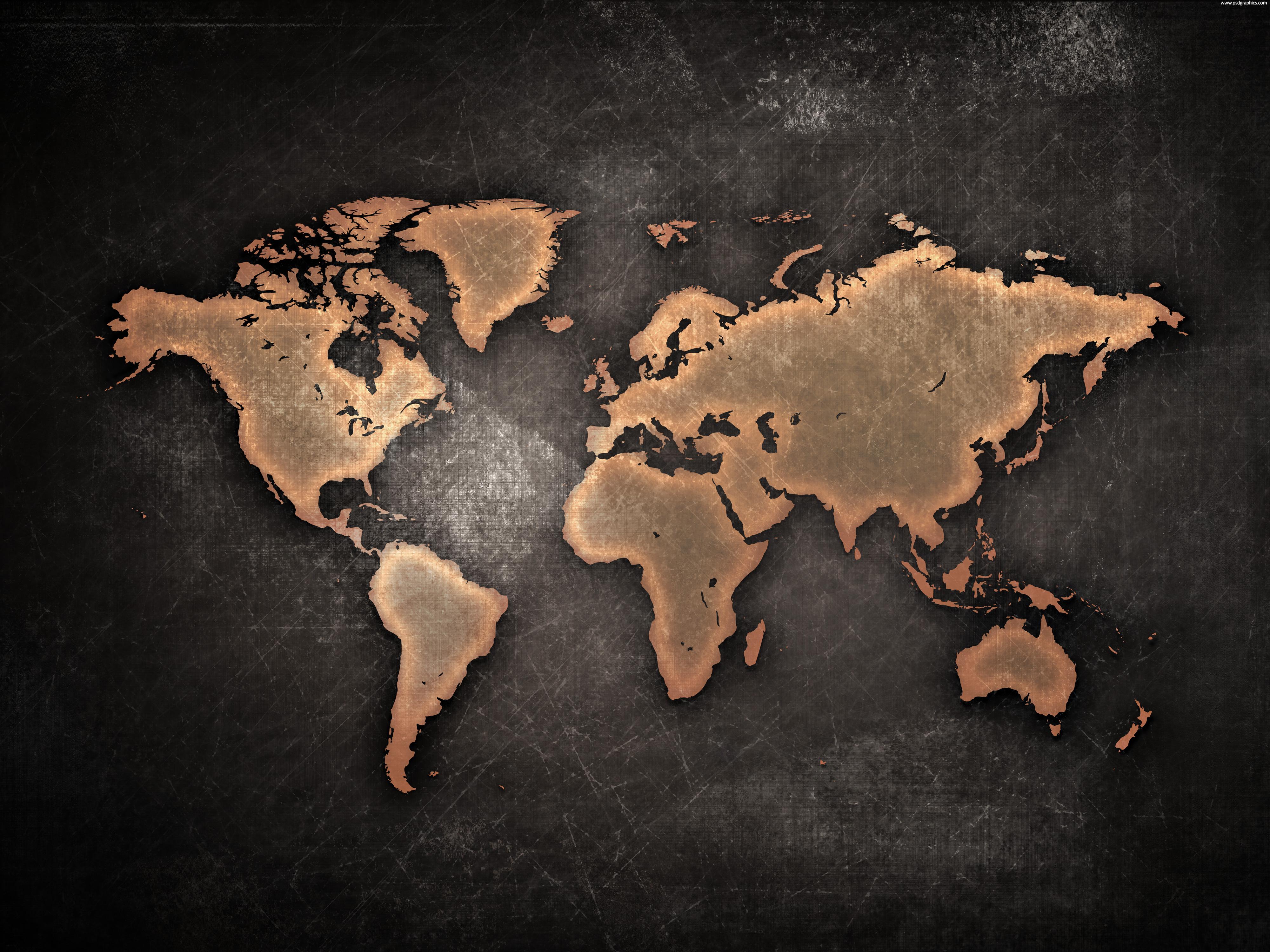 World grunge map photo