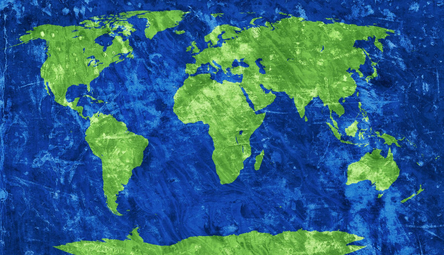 World Grunge Map, Africa, Rough, Retro, Resource, HQ Photo