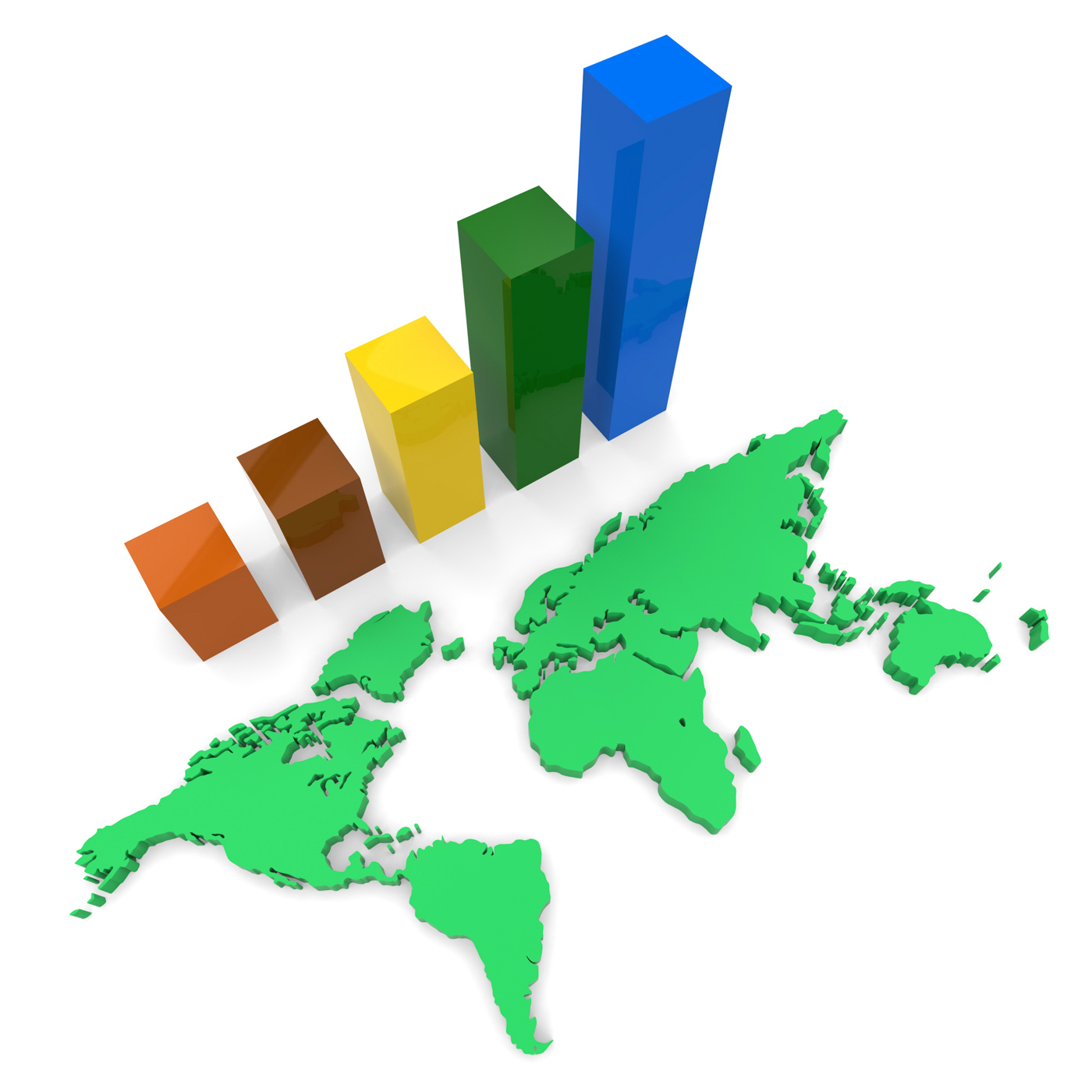 World wide growth shows raise gain and expansion photo