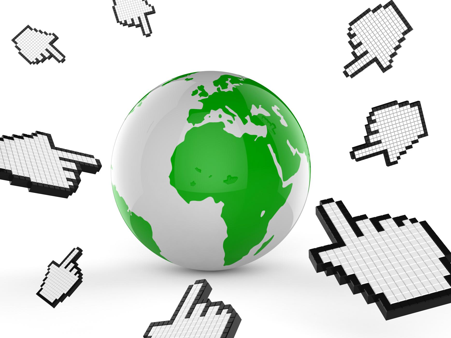Worldwide internet indicates web site and analyse photo