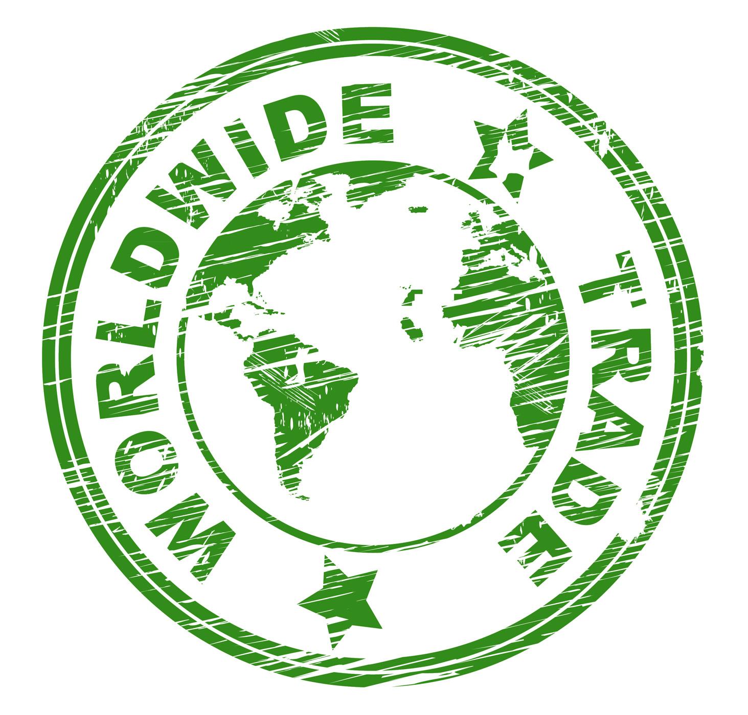 Worldwide trade indicates import e-commerce and globalise photo