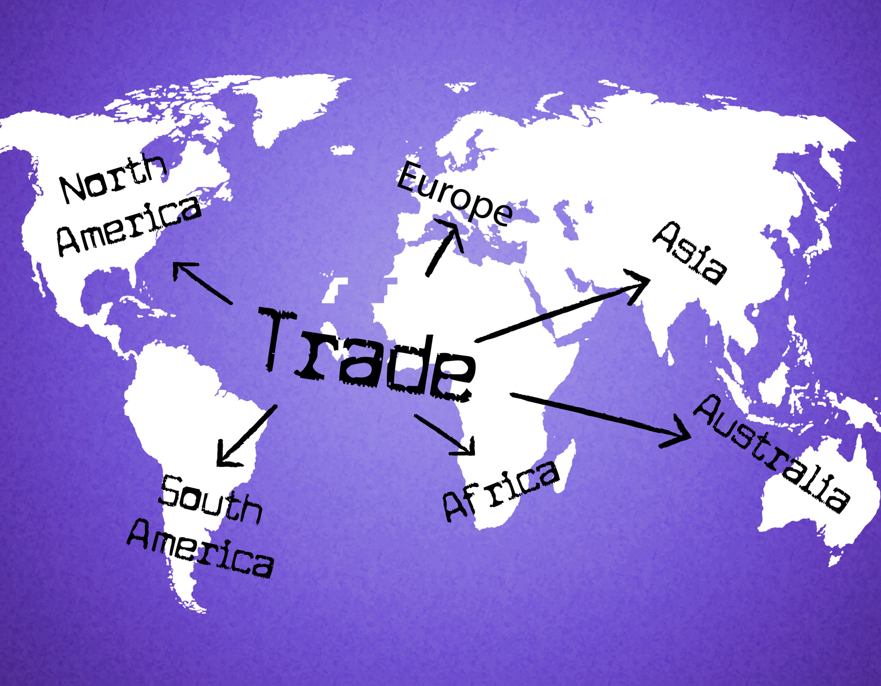 Worldwide trade represents buy corporation and e-commerce photo