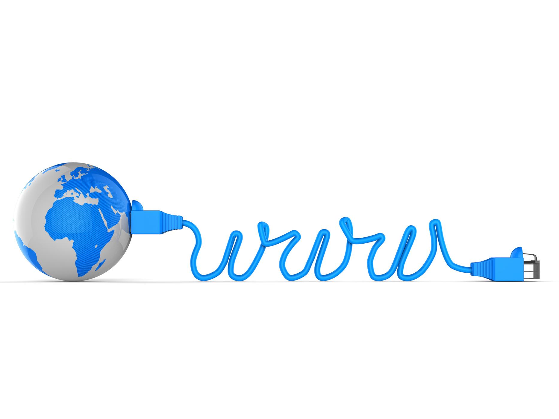 Worldwide web represents computer network and communication photo