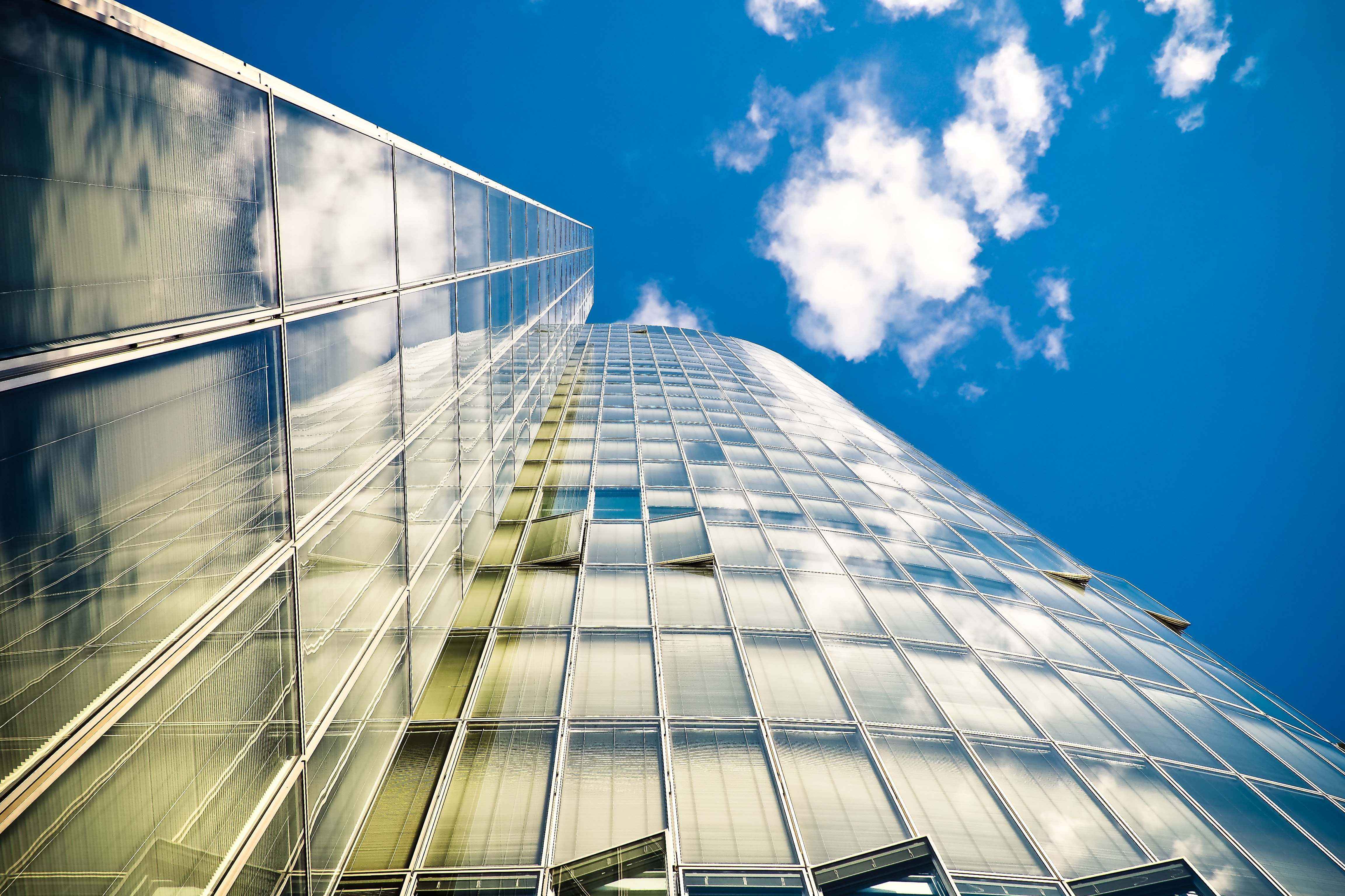 Worm's Eyeview Photography of Building, Office, Windows, Urban, Tall, HQ Photo