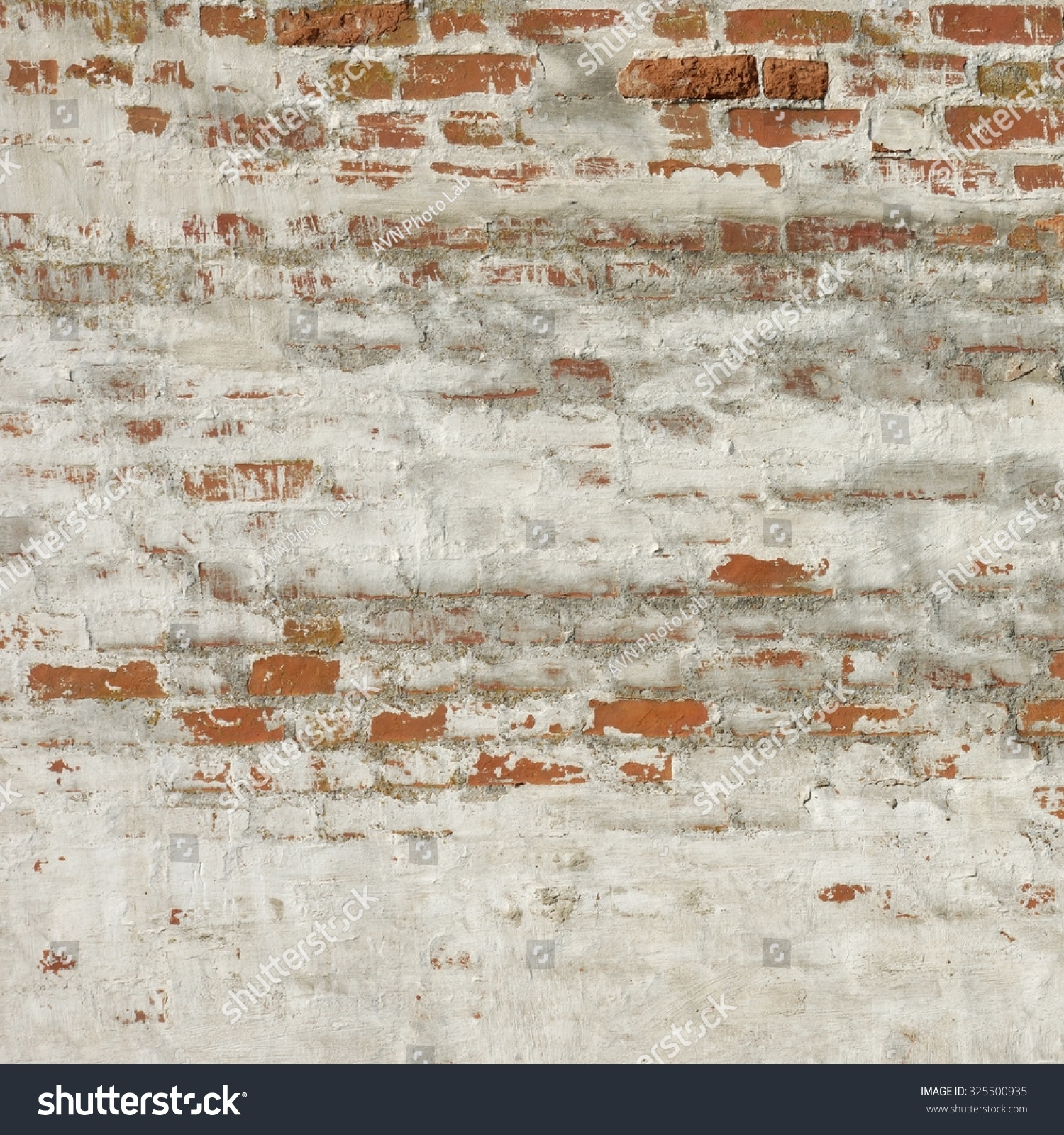 Old Worn Red Brick Wall Shabby Stock Photo 325500935 - Shutterstock