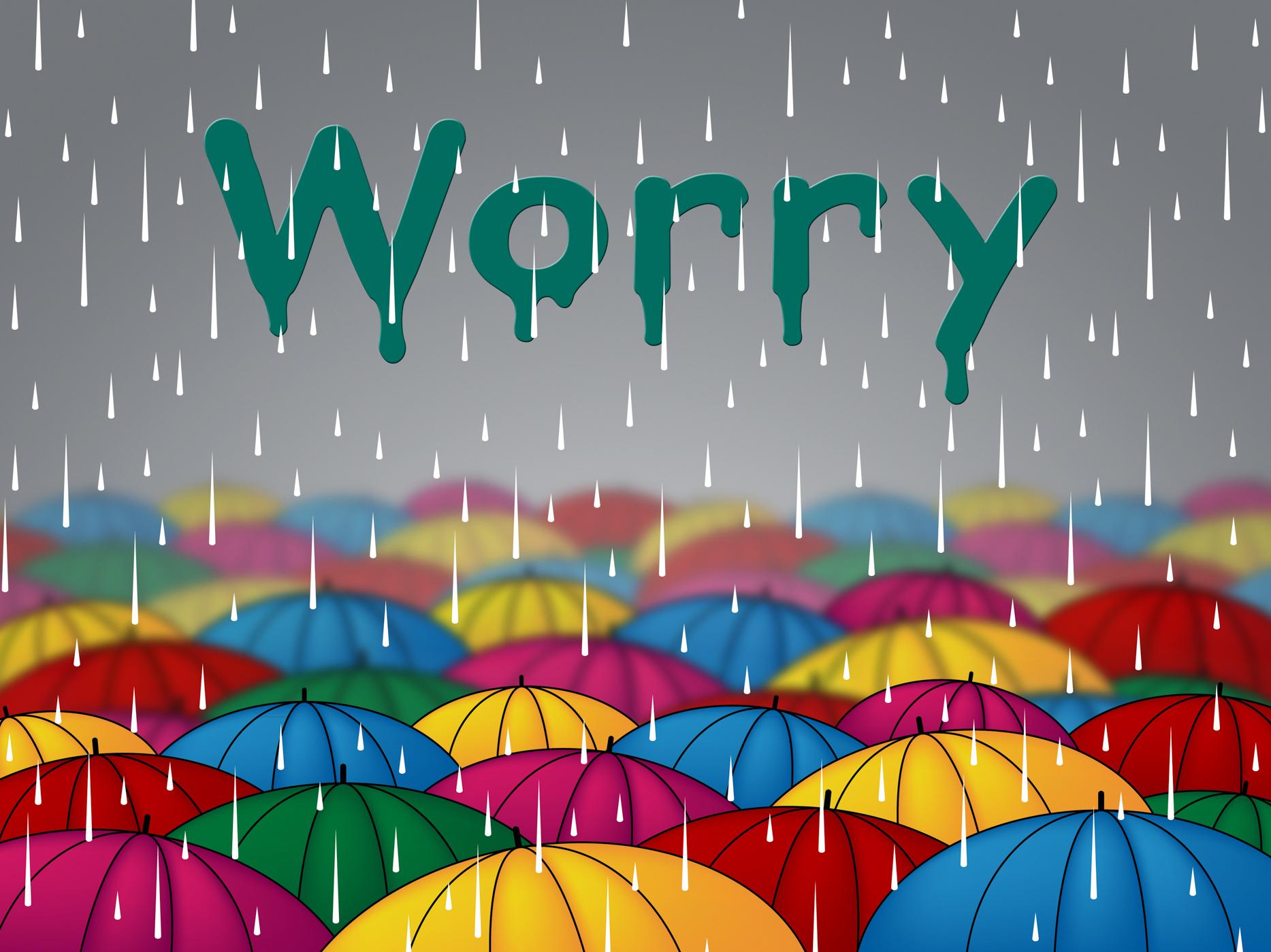 Worry rain shows umbrellas precipitation and umbrella photo