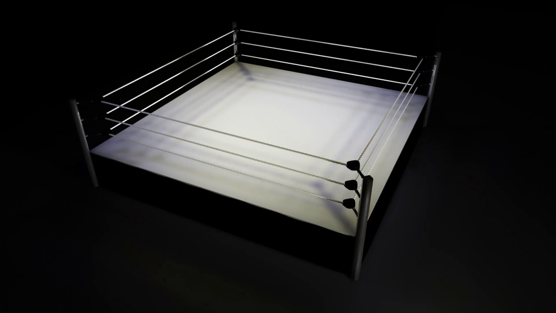 Rotating Boxing / Wrestling Ring on Black Background Motion ...