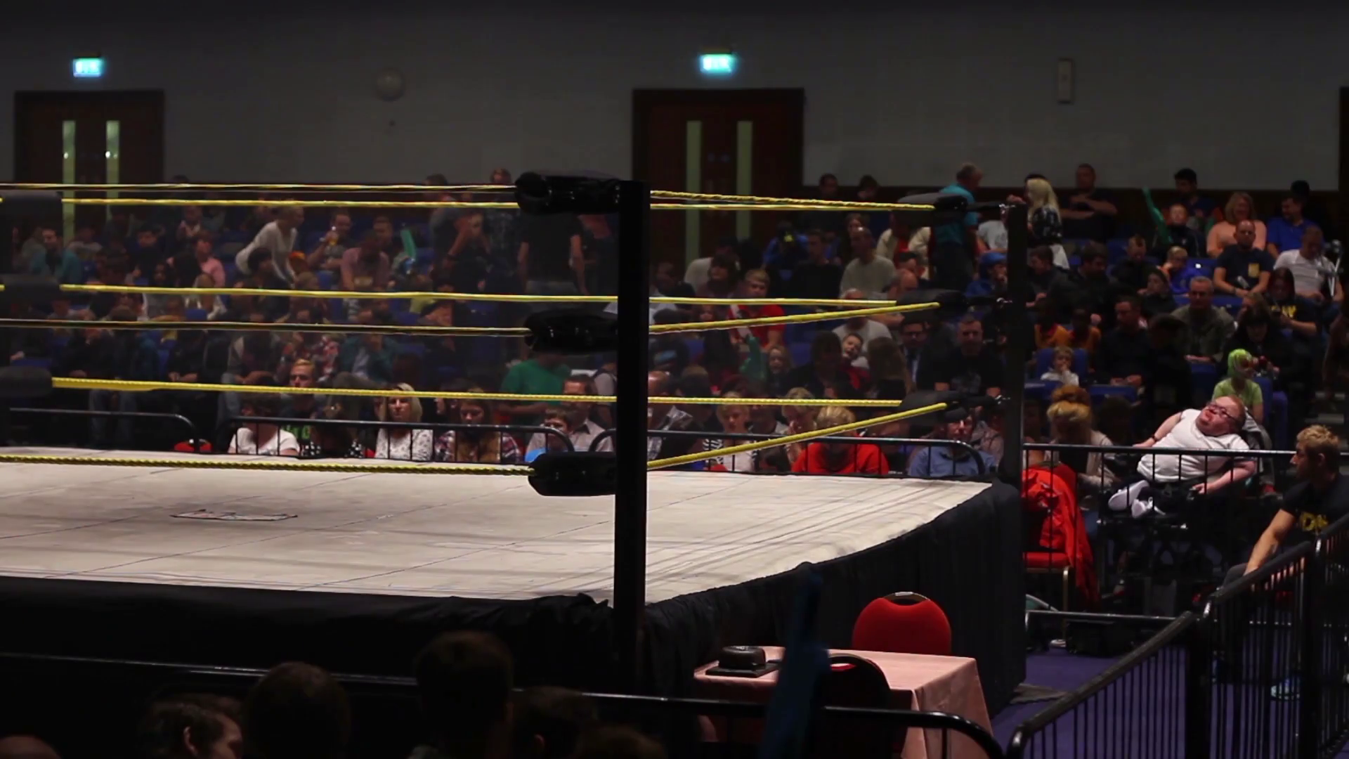 Empty Pro Wrestling Ring with Fans / Audience Stock Video Footage ...