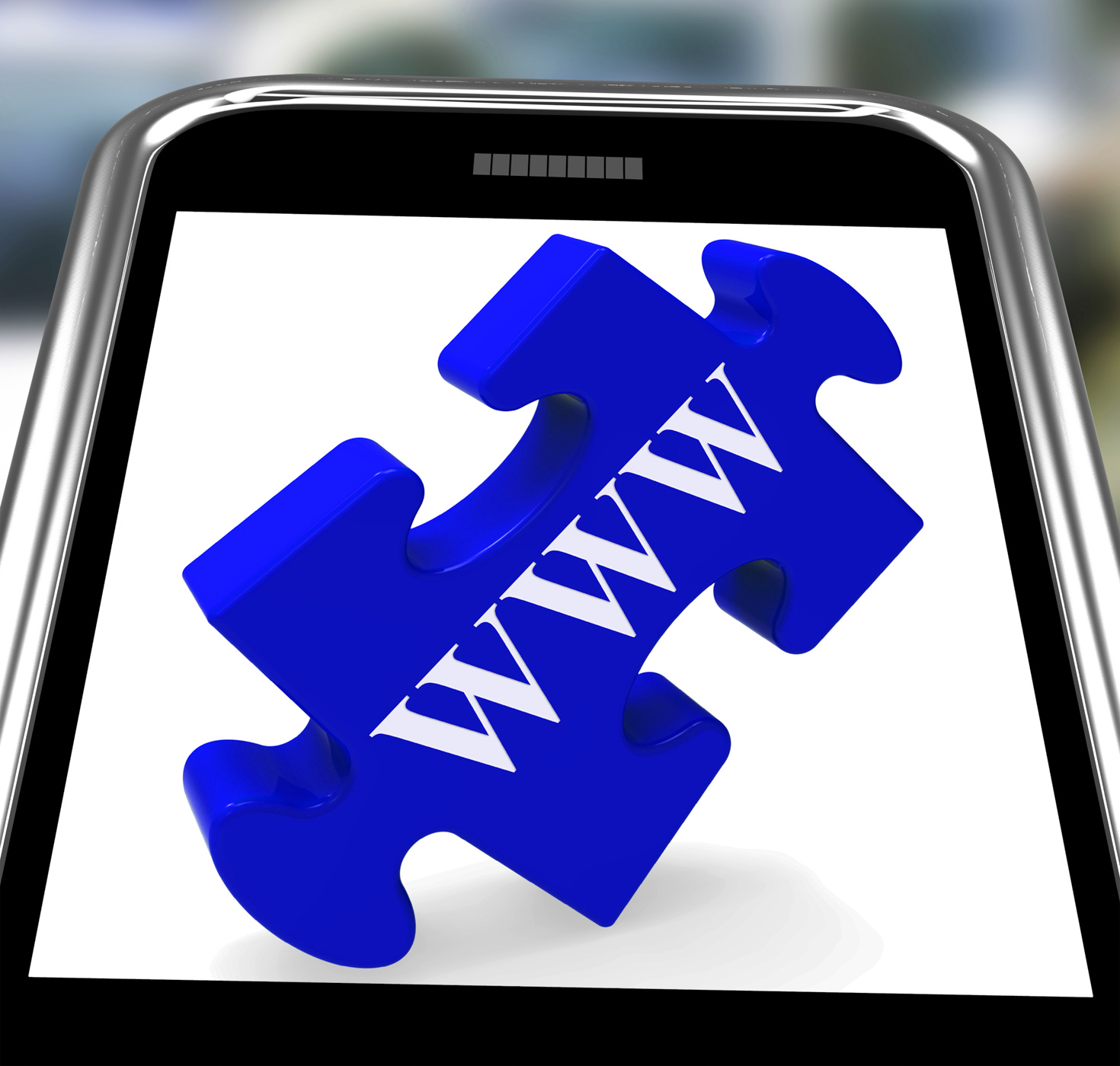 Www smartphone means internet network and websites photo