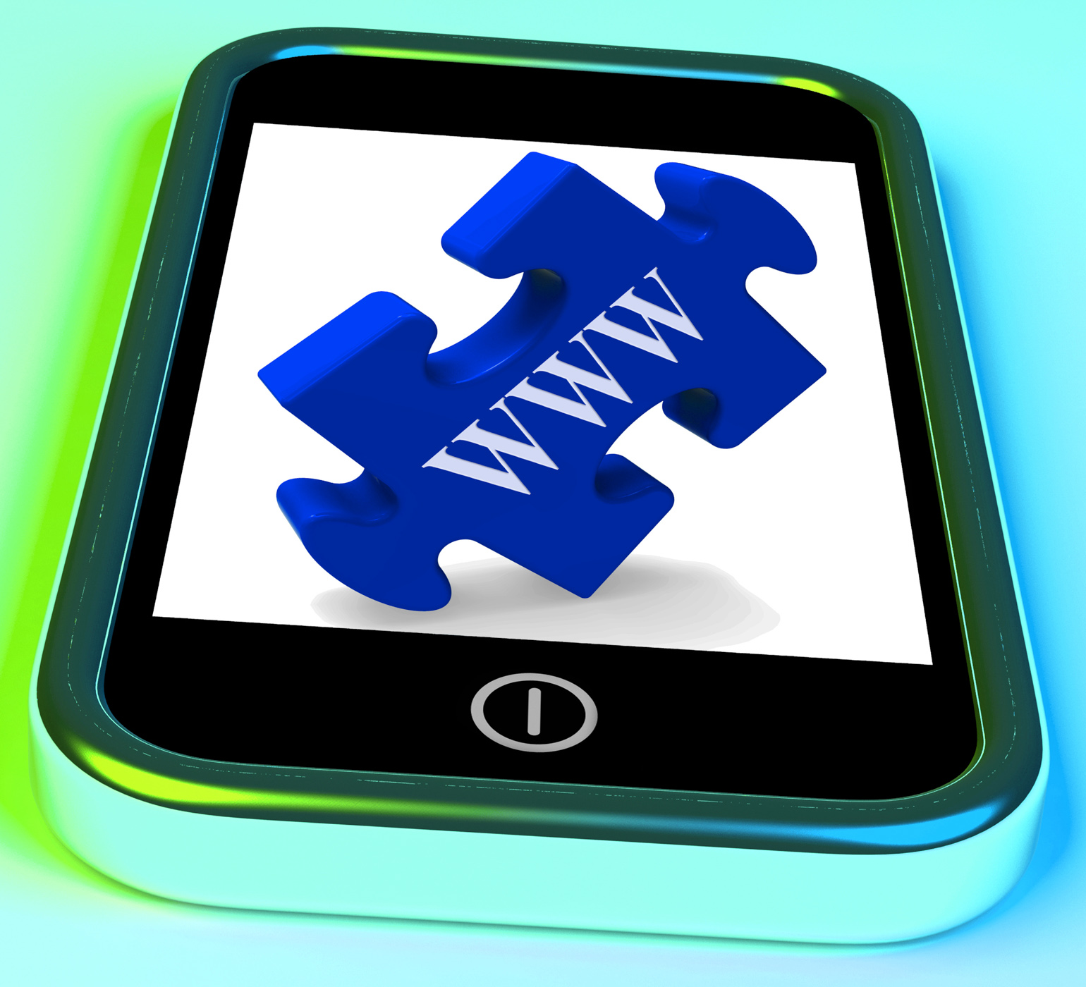 Www smartphone shows internet web and online photo