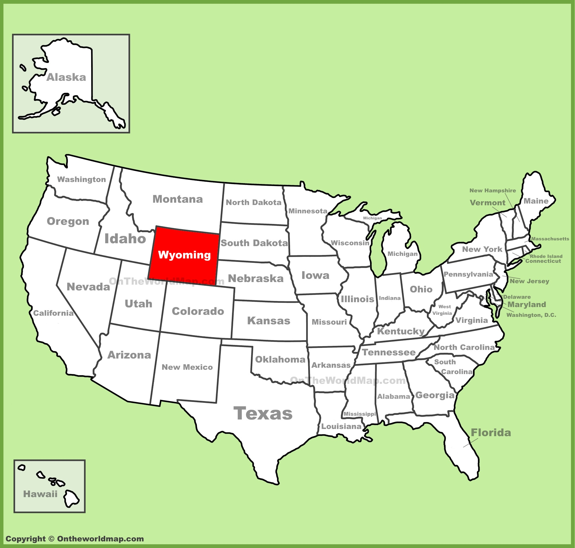 Wyoming State Maps | USA | Maps of Wyoming (WY)