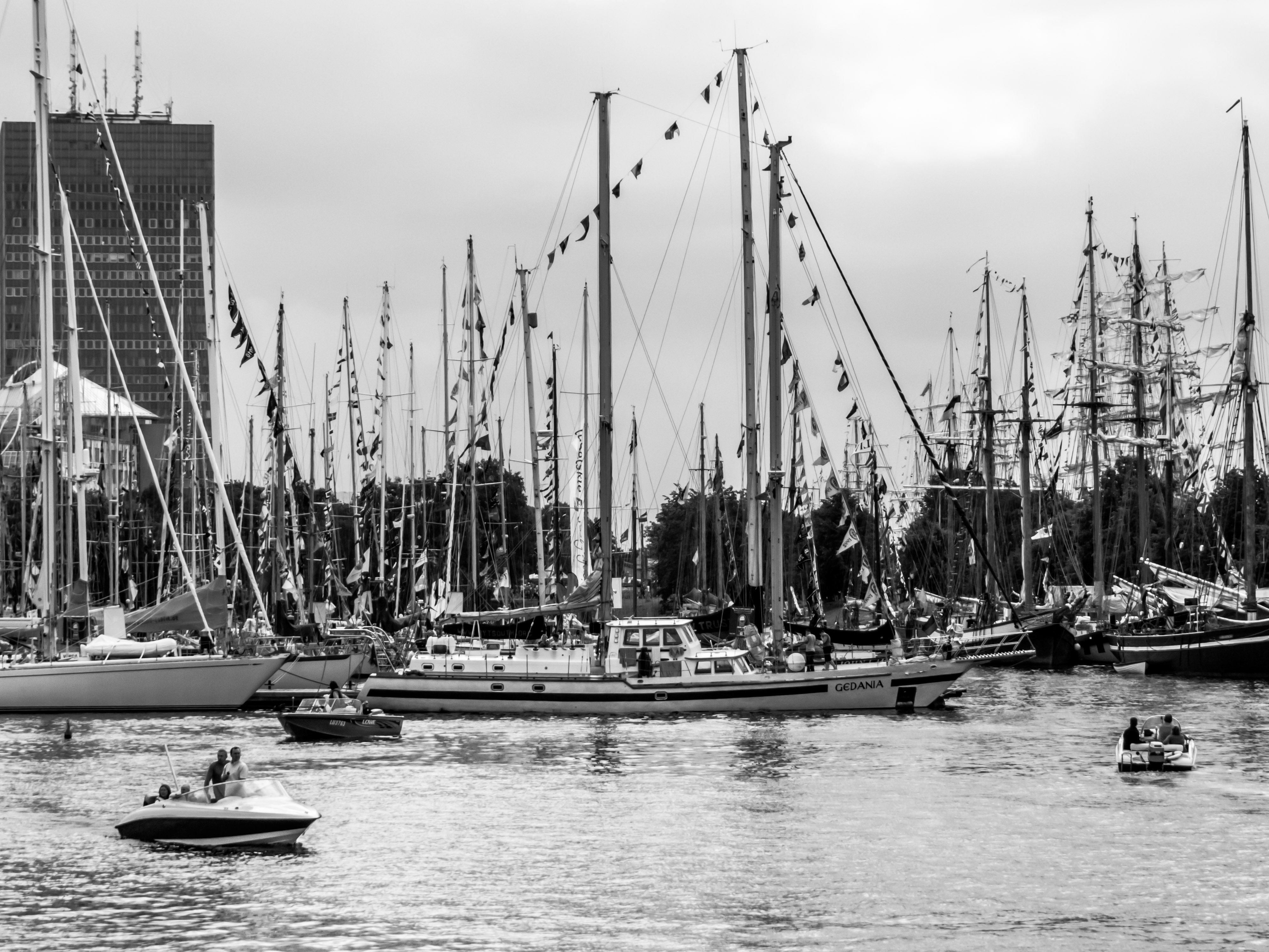 Yacht and sail boat port photo