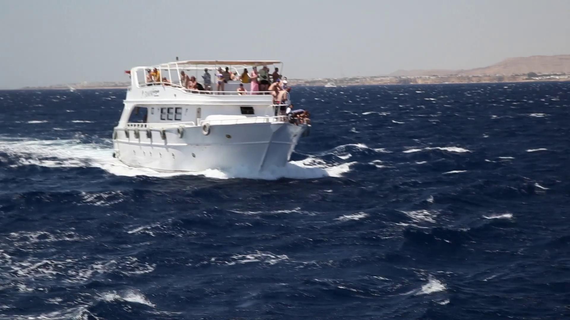 happy people on the yacht at sea Stock Video Footage - VideoBlocks