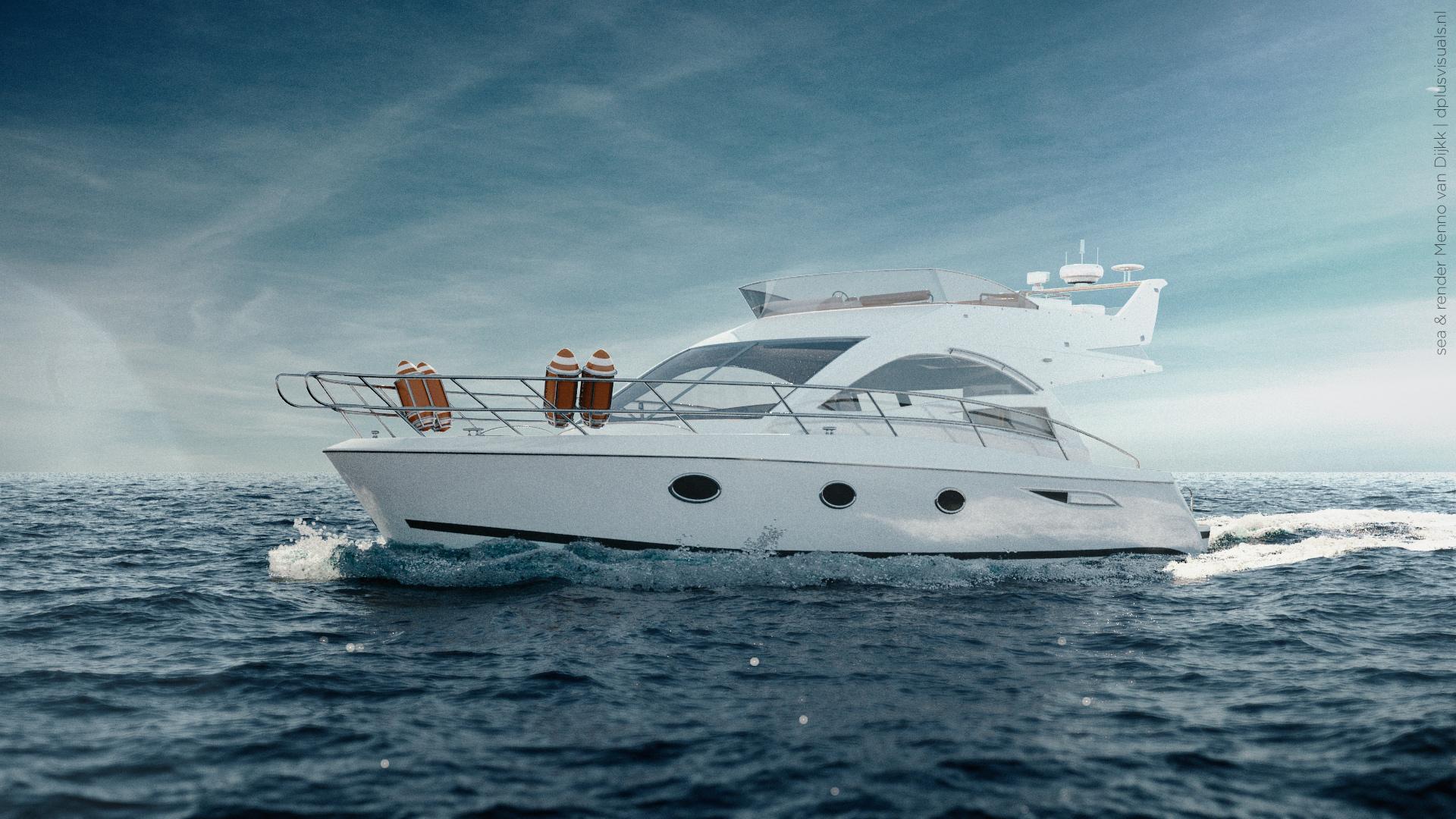 Yacht at sea   Dplus Visuals