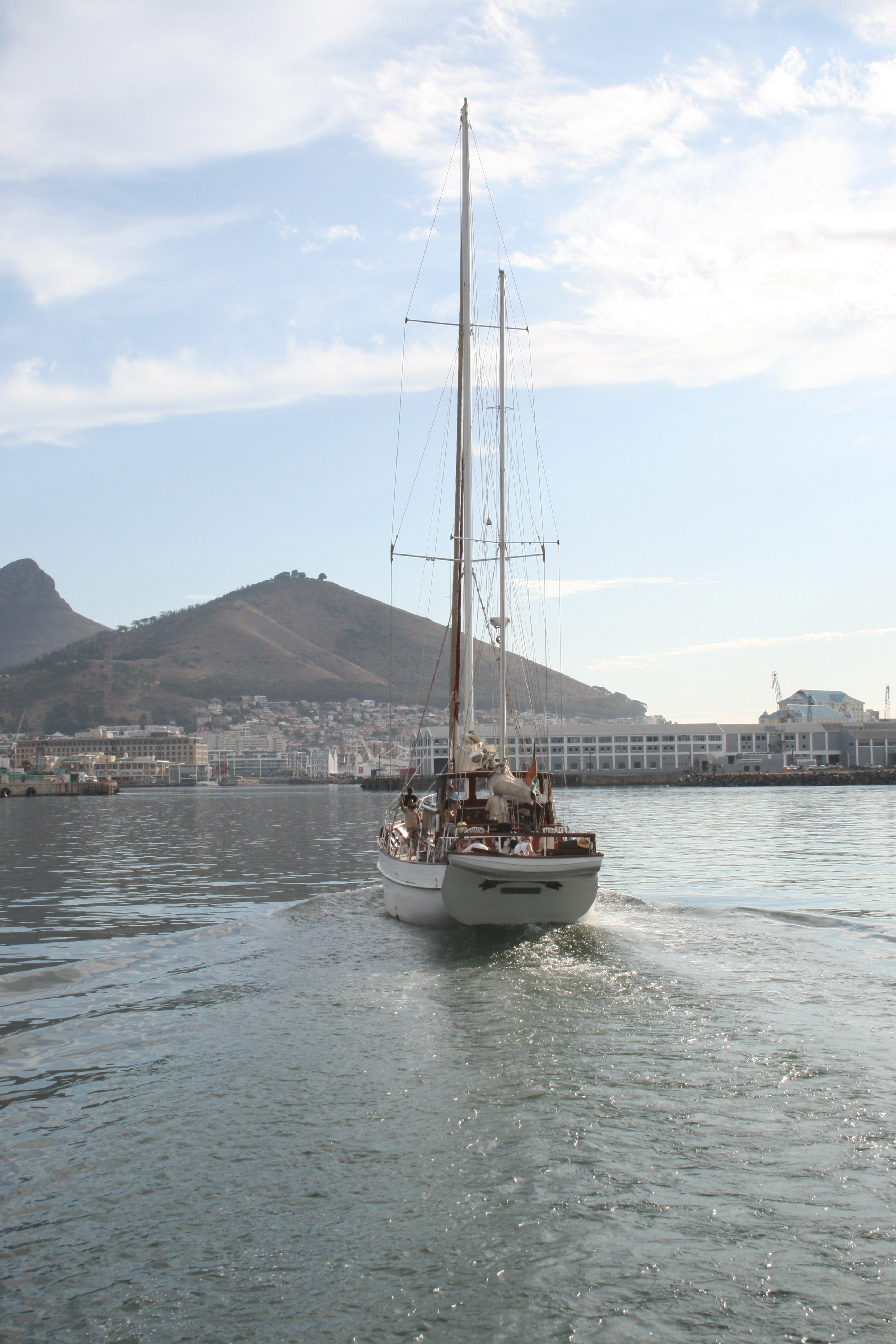 Yacht in table bay photo