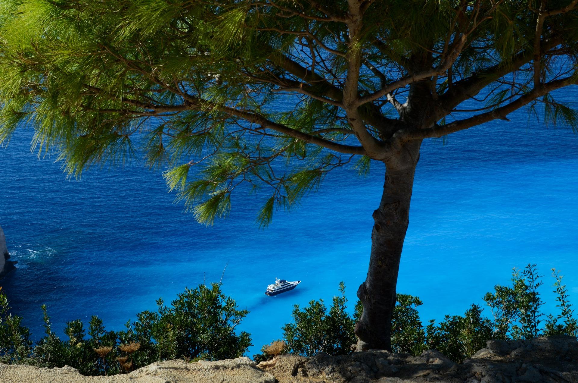 Yacht in the mediterranean photo