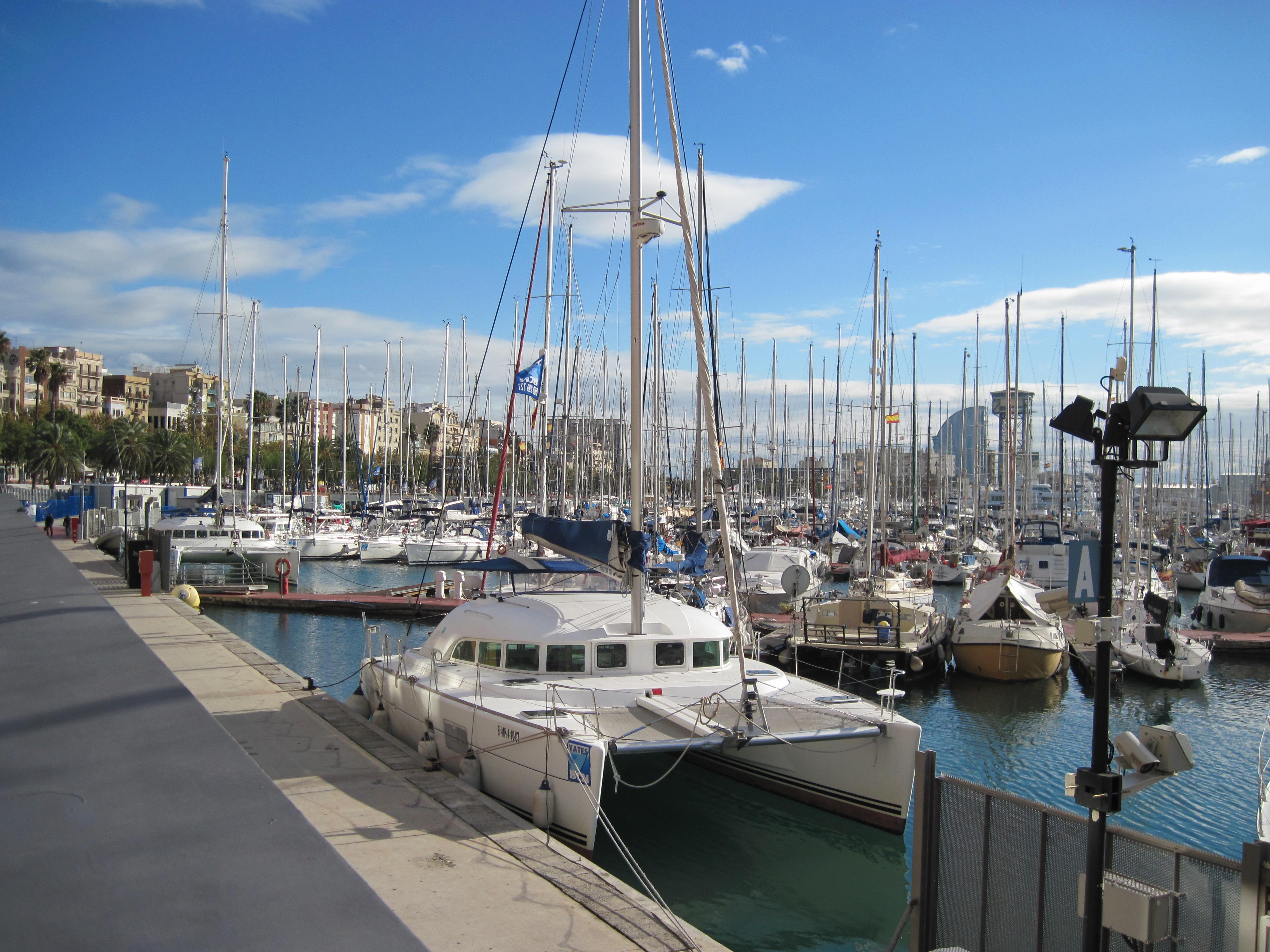 Yacht marina in barcelona, spain photo