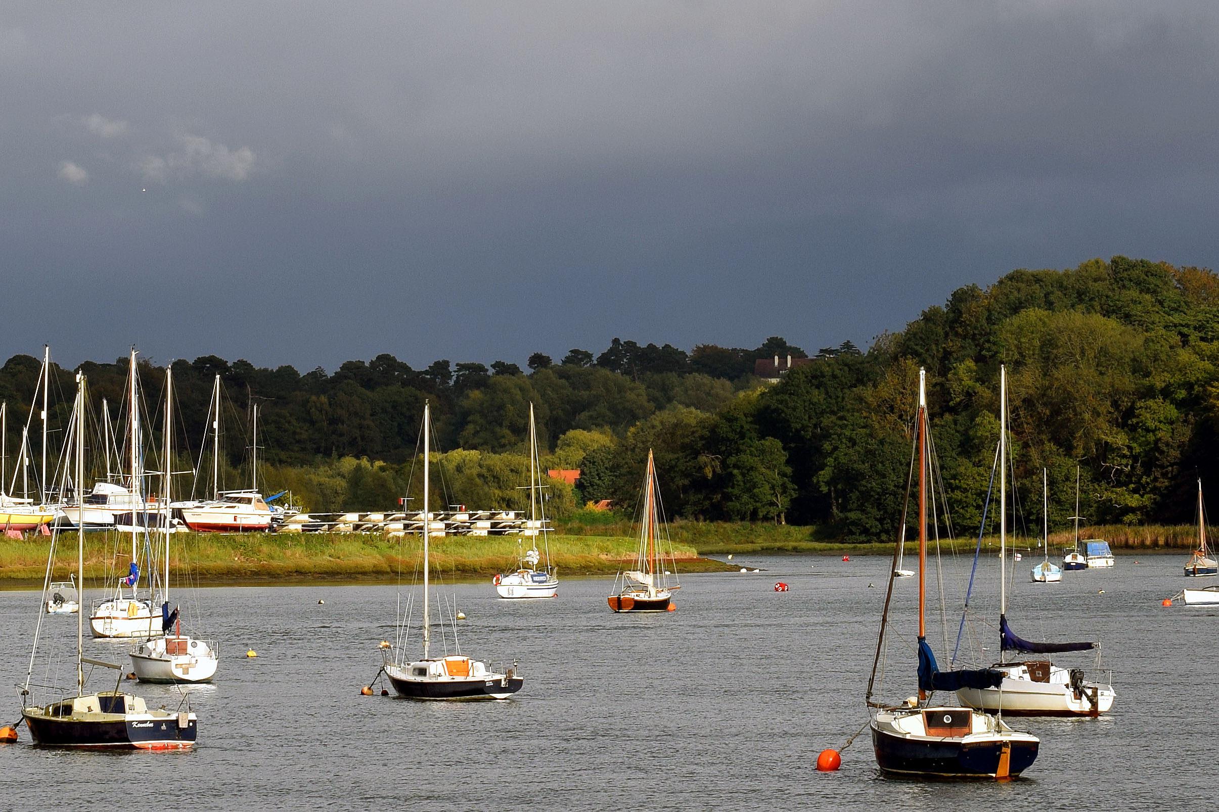 Yachts and boats on the River Deben, Boating, Boats, Leisure, Yachting, HQ Photo