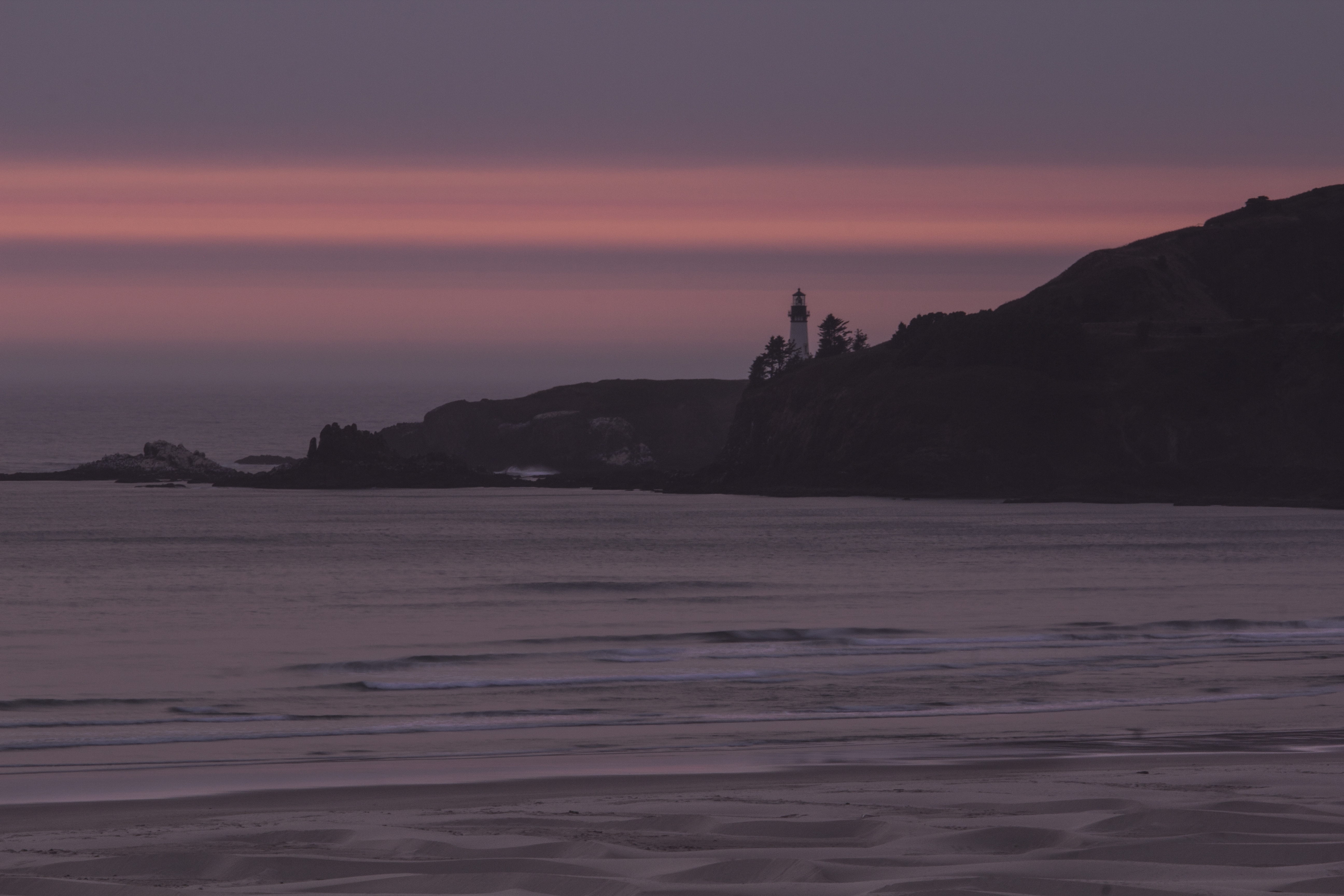 Yaquina Head lighthouse, Oregon, Beach, Pink, Water, #ThroughHerLens, HQ Photo