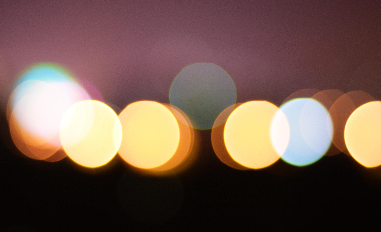 Yellow and white lights bokeh photo