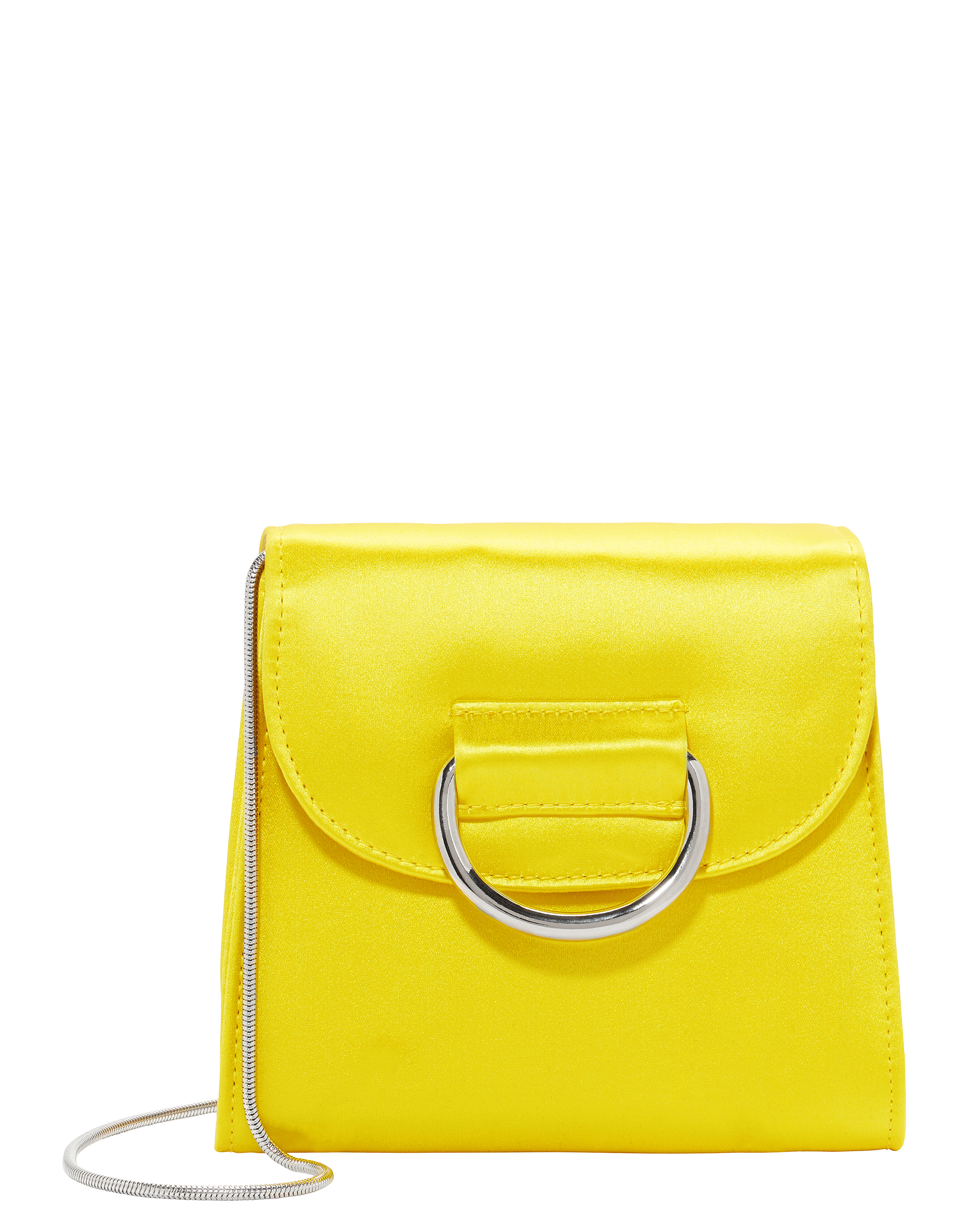 Tiny Box Satin Yellow Bag