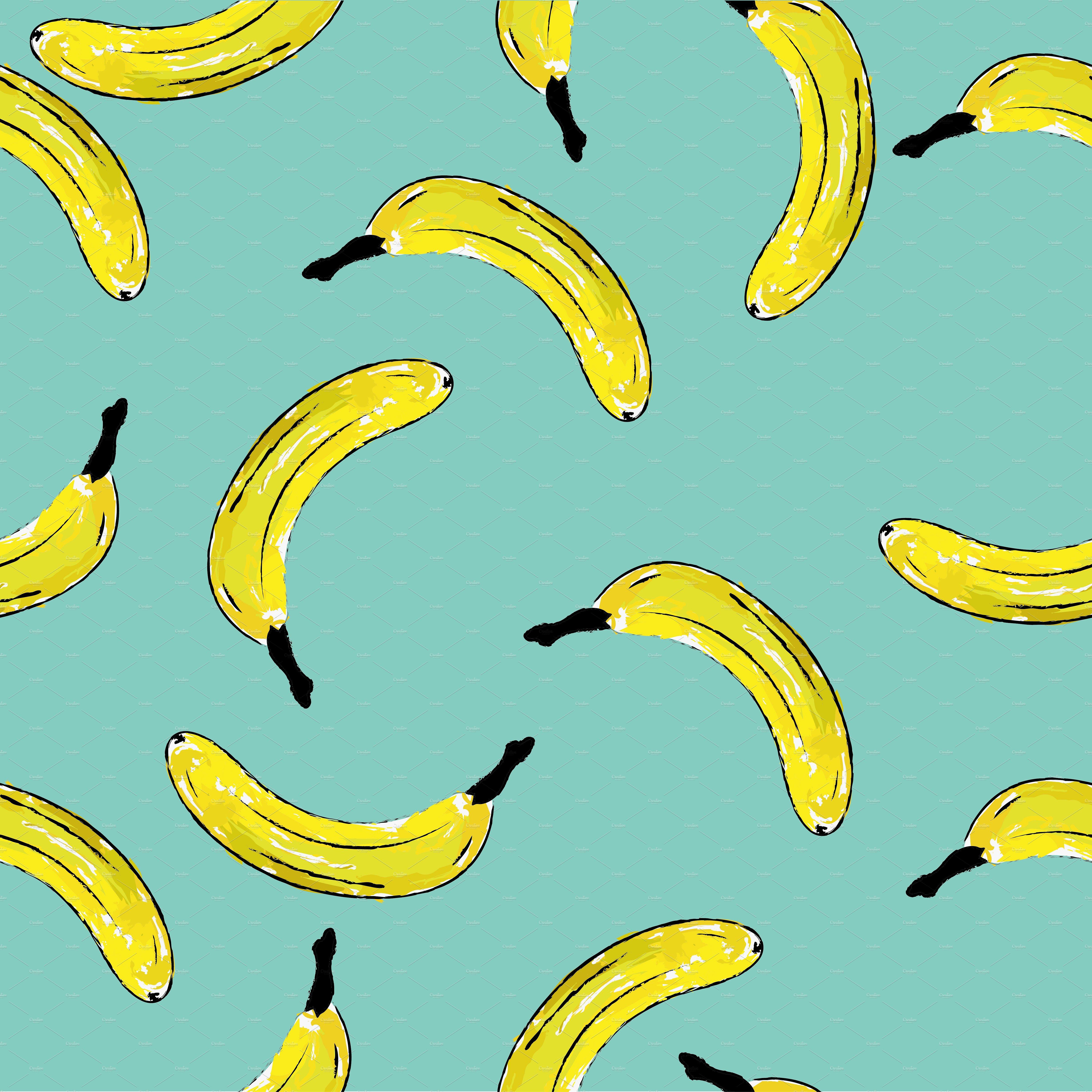 Free photo: Yellow (Banana) on Yellow (Background ...
