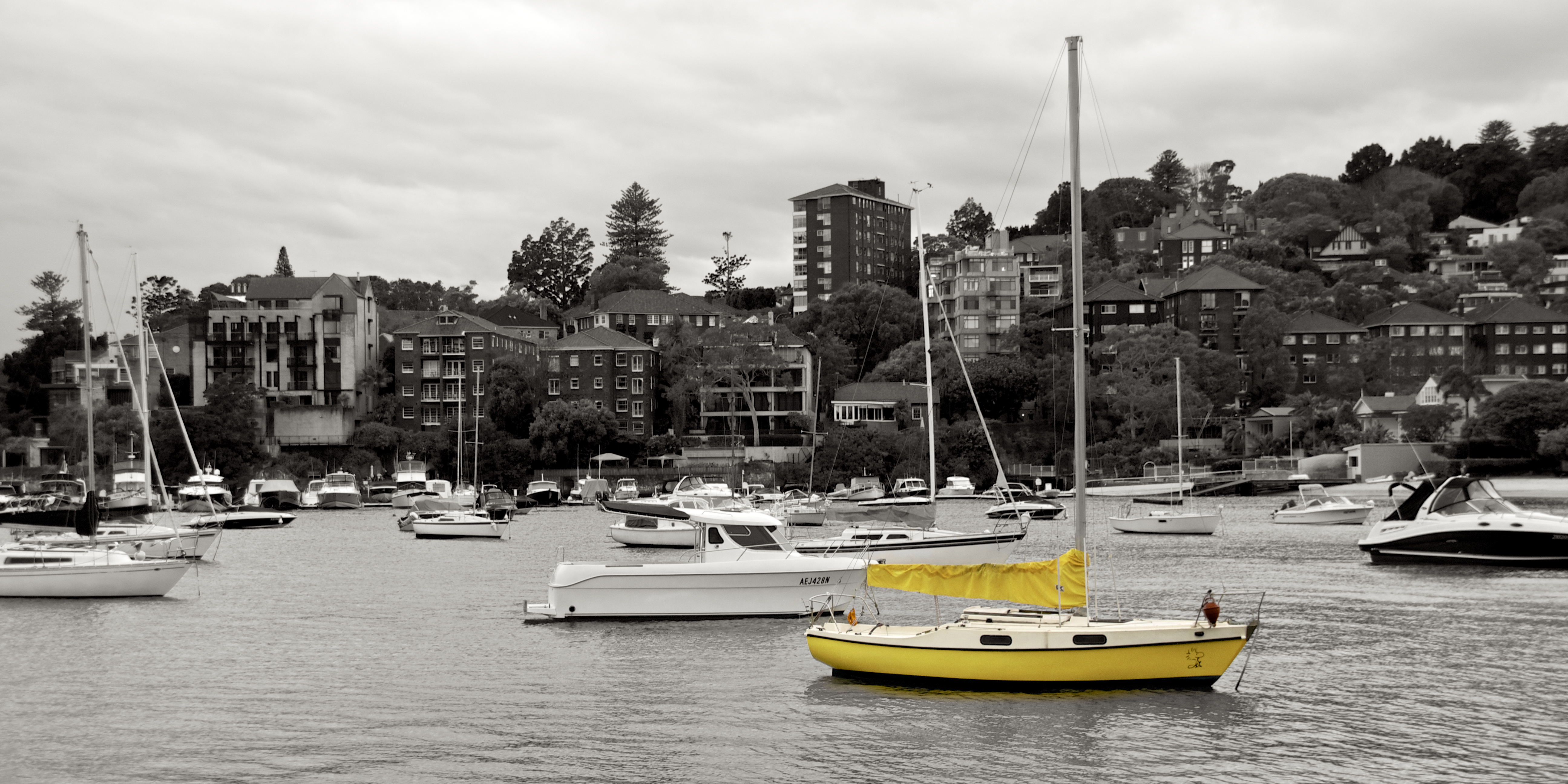 Yellow boat in Double Bay, Boat, CC0, No copyright, Outdoor, HQ Photo