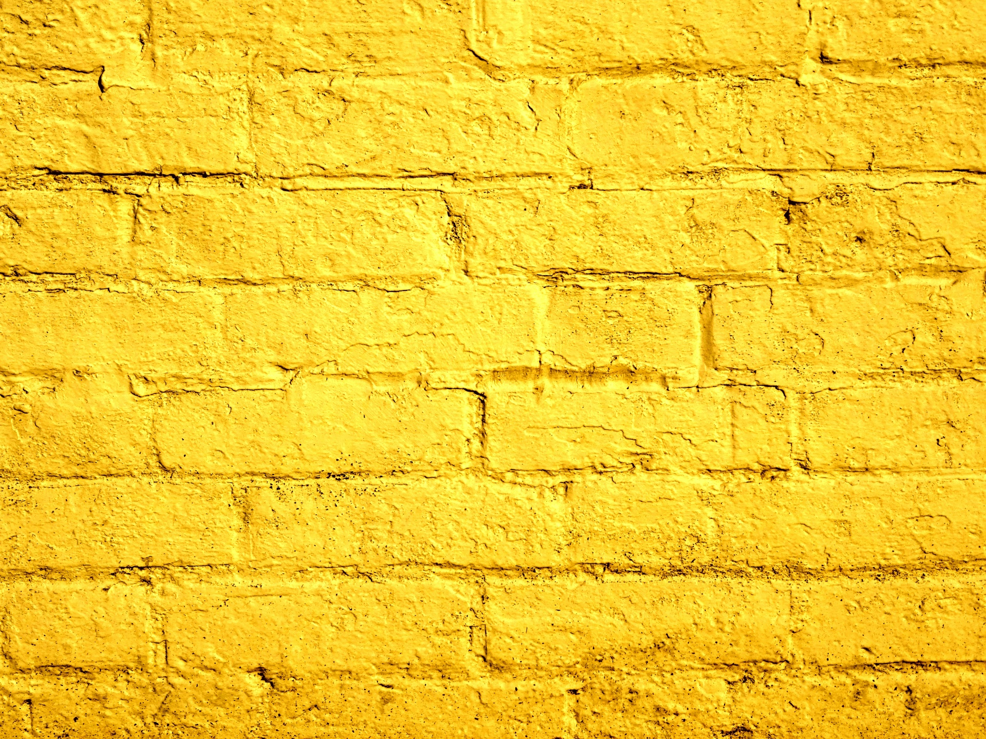 Yellow Painted Brick Wall Free Stock Photo - Public Domain Pictures
