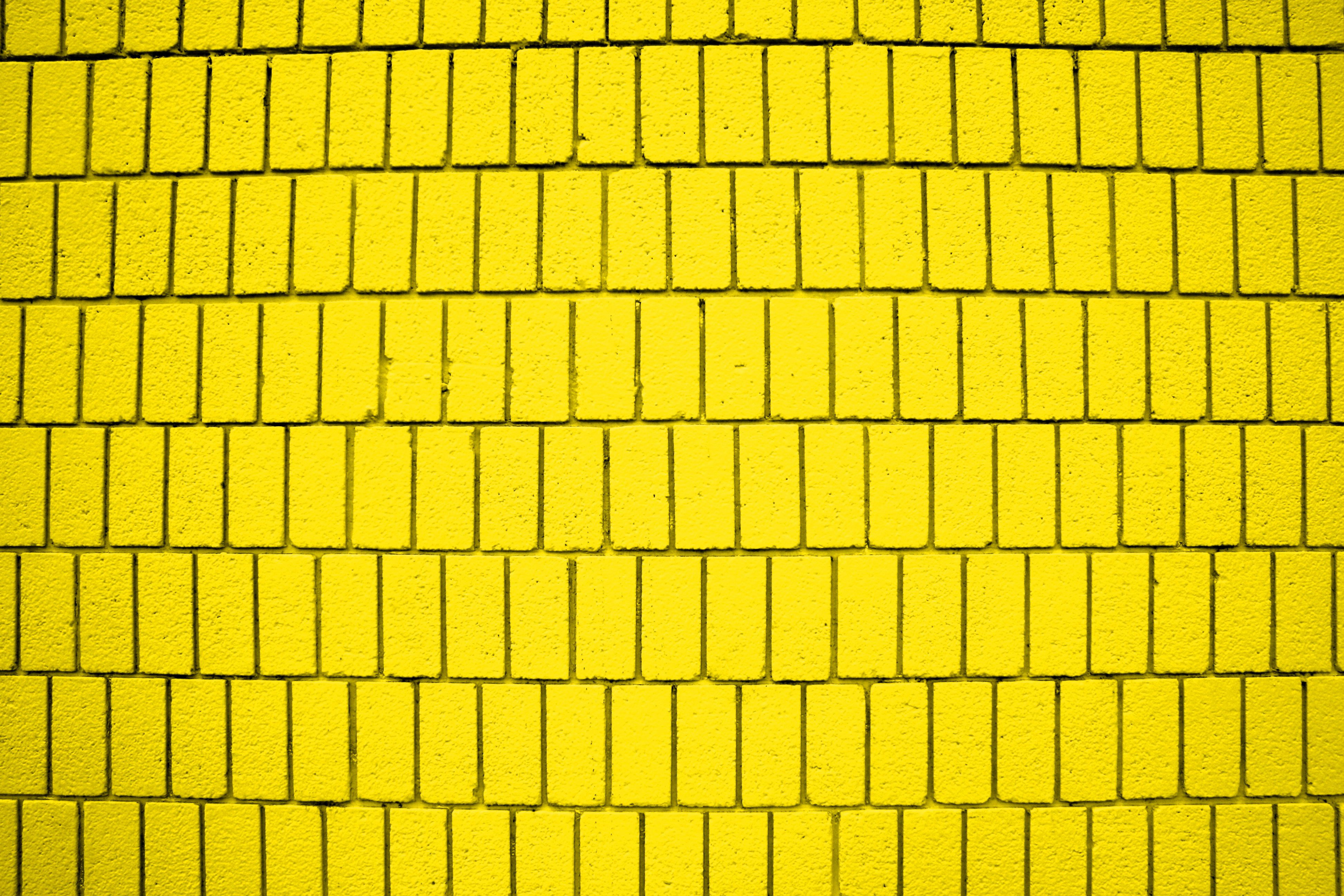 Bright Yellow Brick Wall Texture with Vertical Bricks Picture | Free ...