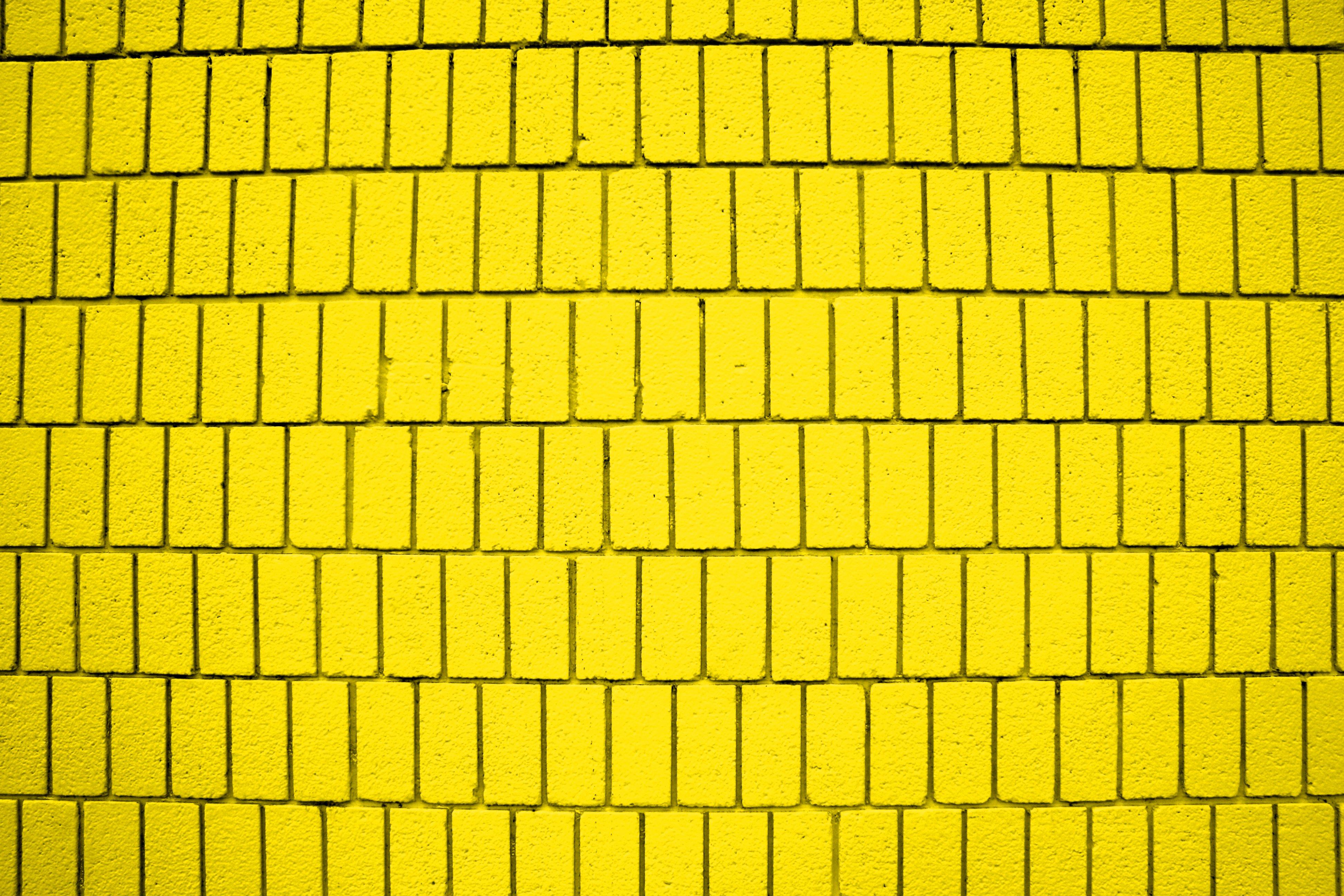 Free photo: Yellow Brick Wall - Stones, Stonewall, Surface - Free ...