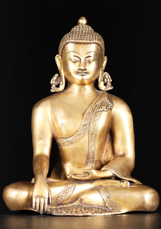 Yellow buddha statue photo