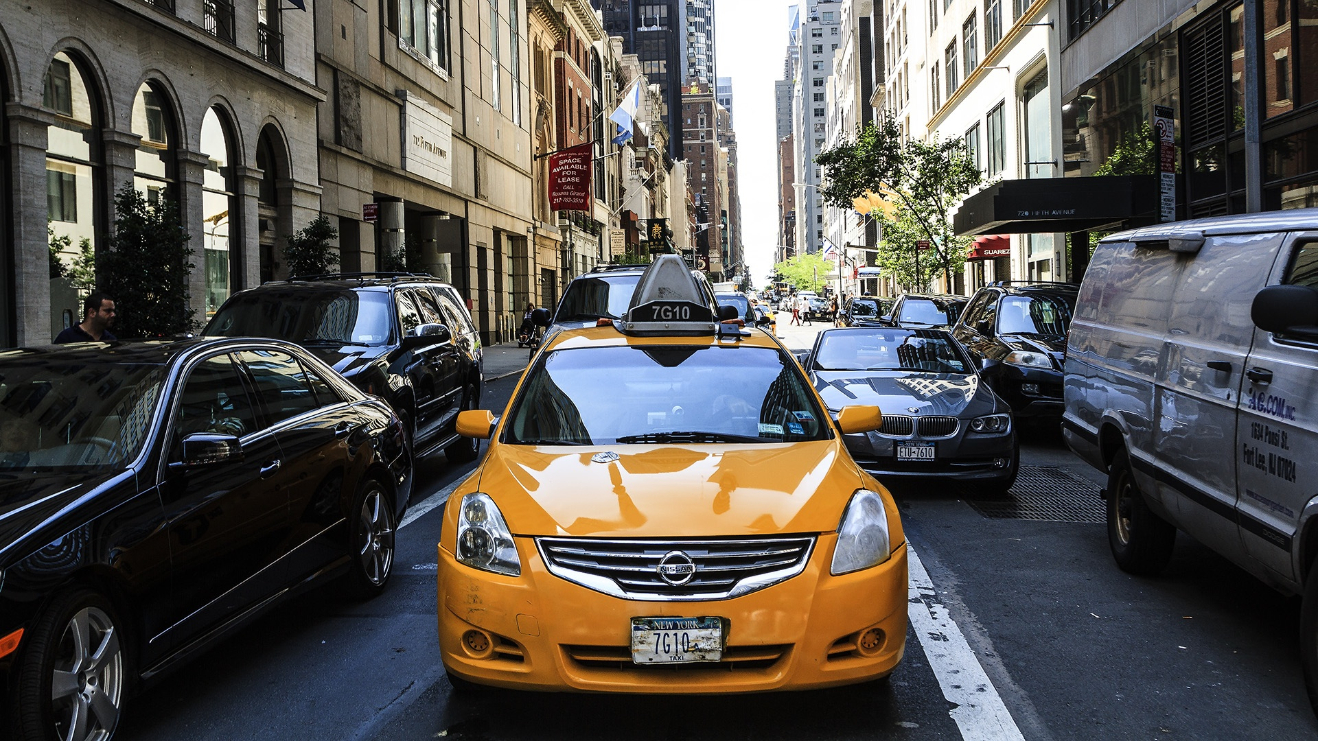 Yellow Cab, Cab, Cars, City, People, HQ Photo