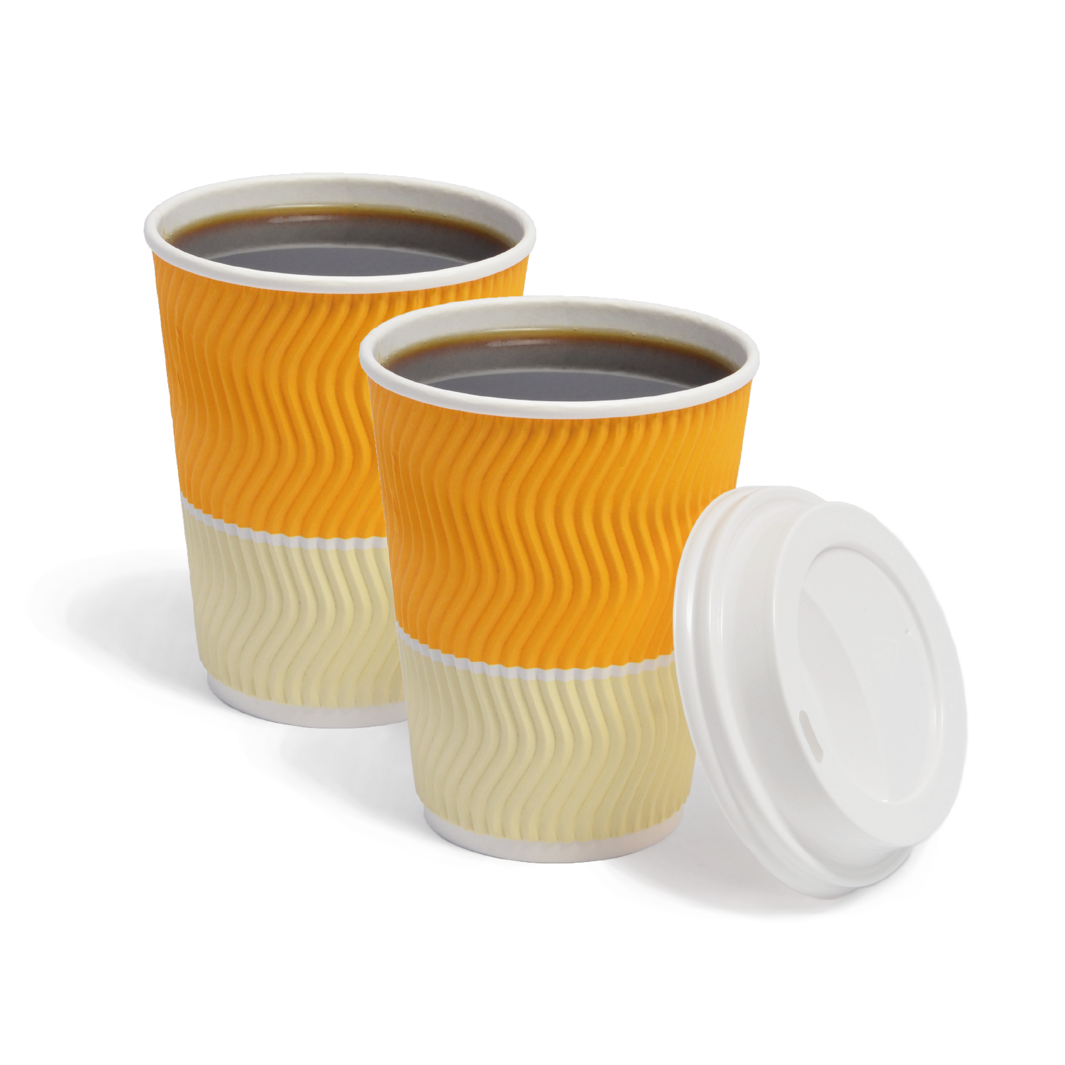 Wave Cups - Golden Yellow – Ovalware