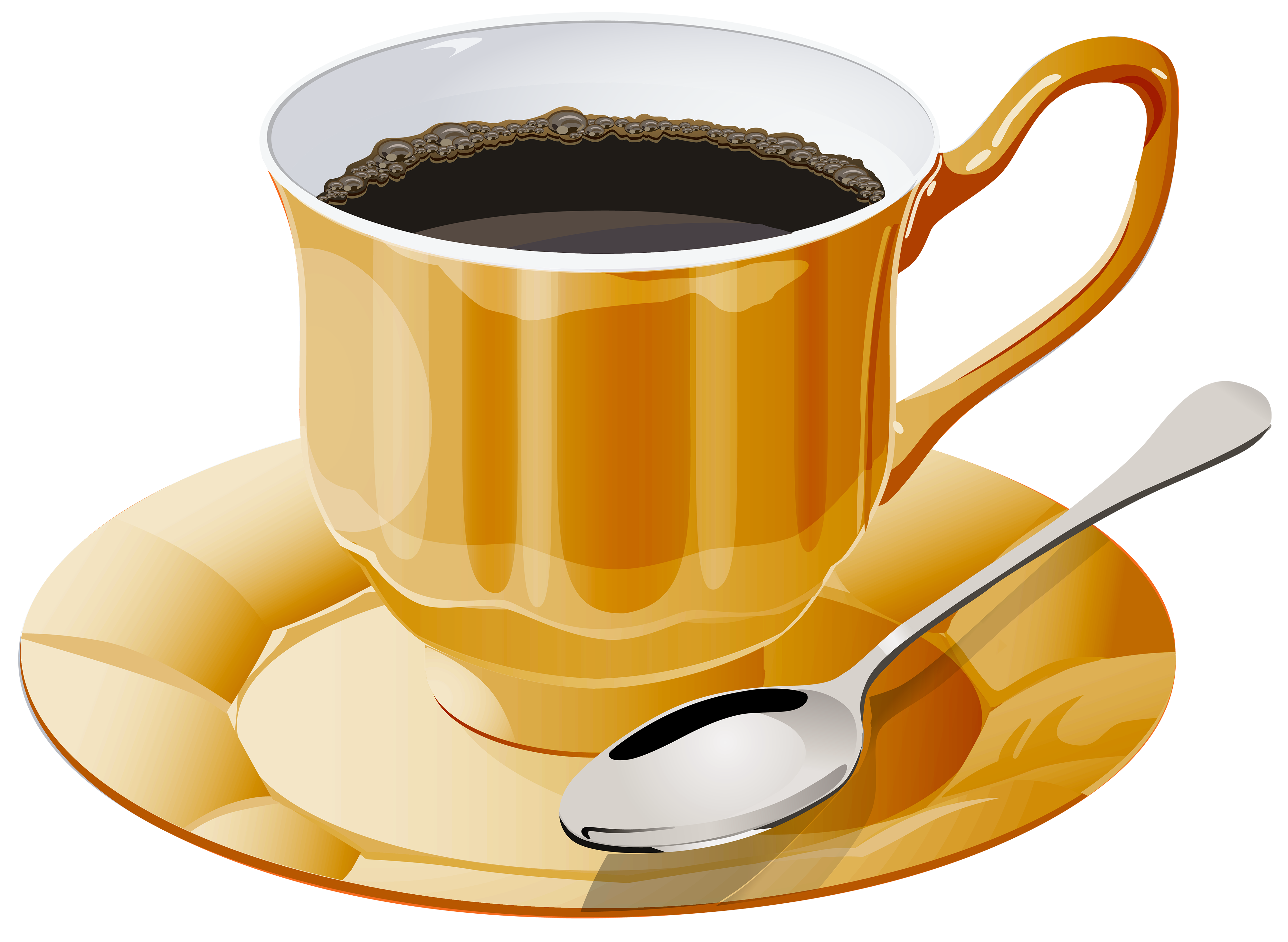 Yellow Cup of Coffee PNG Clipart - Best WEB Clipart