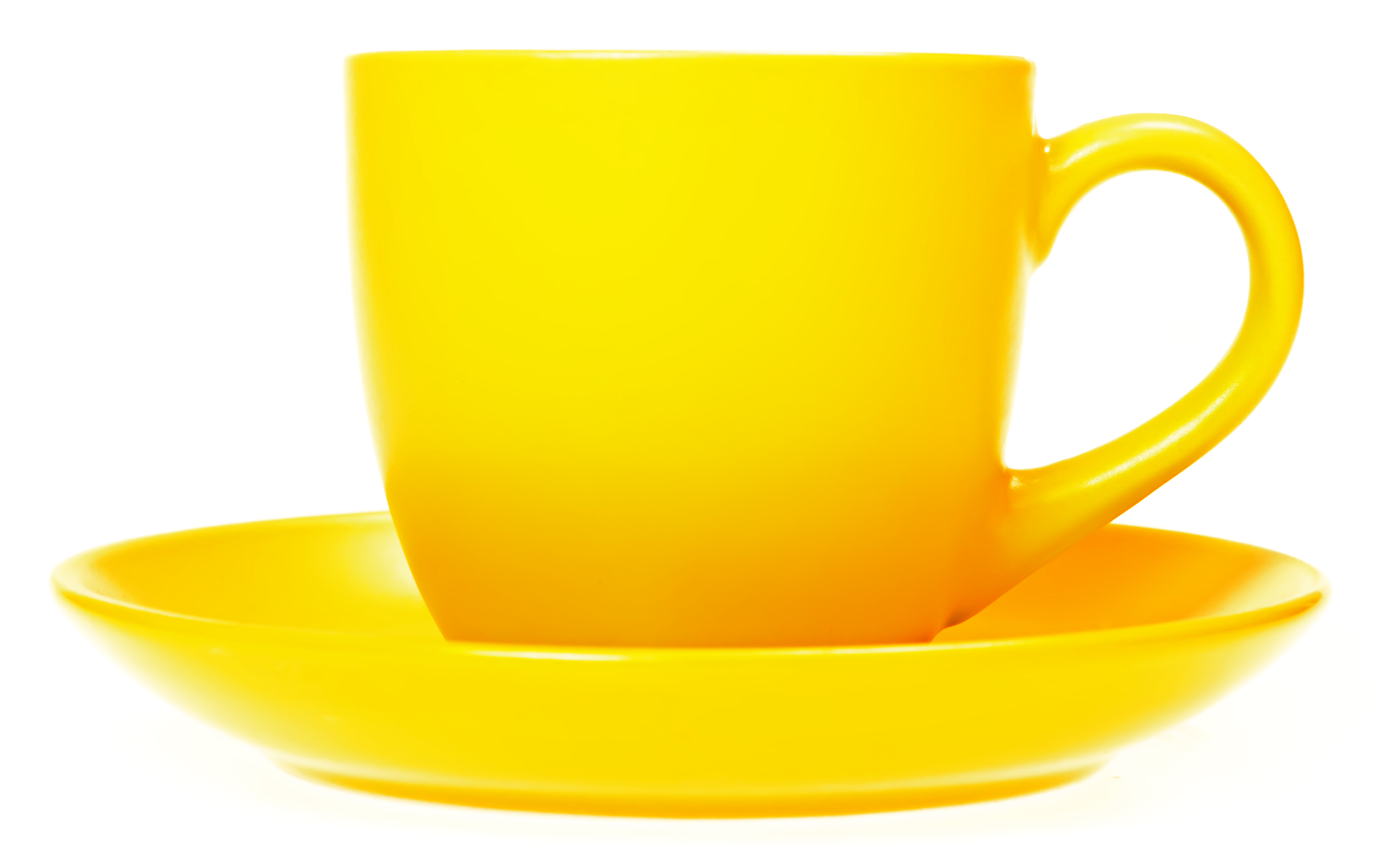 Yellow cup photo