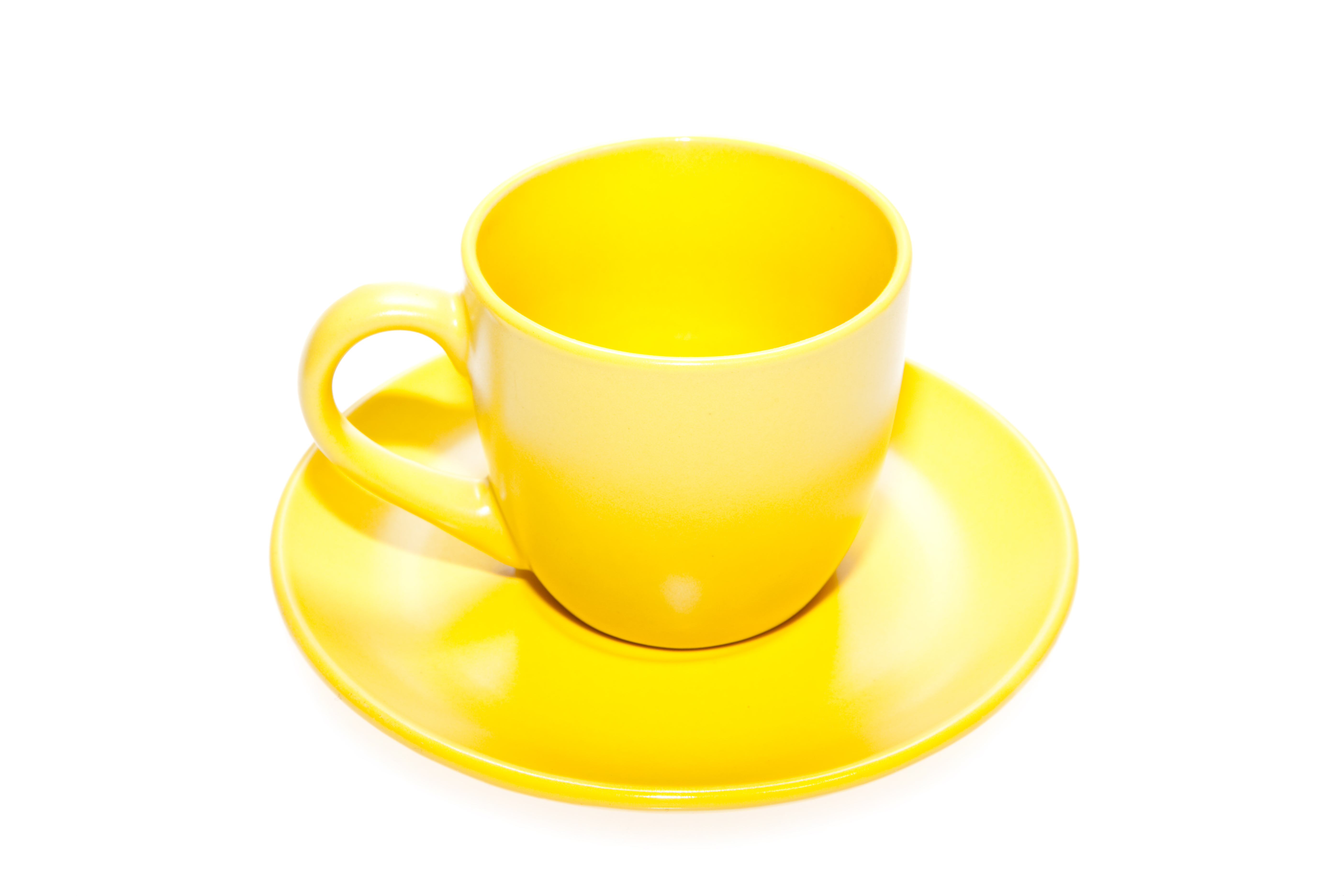 Yellow cup, Bar, Plate, Line, Many, HQ Photo
