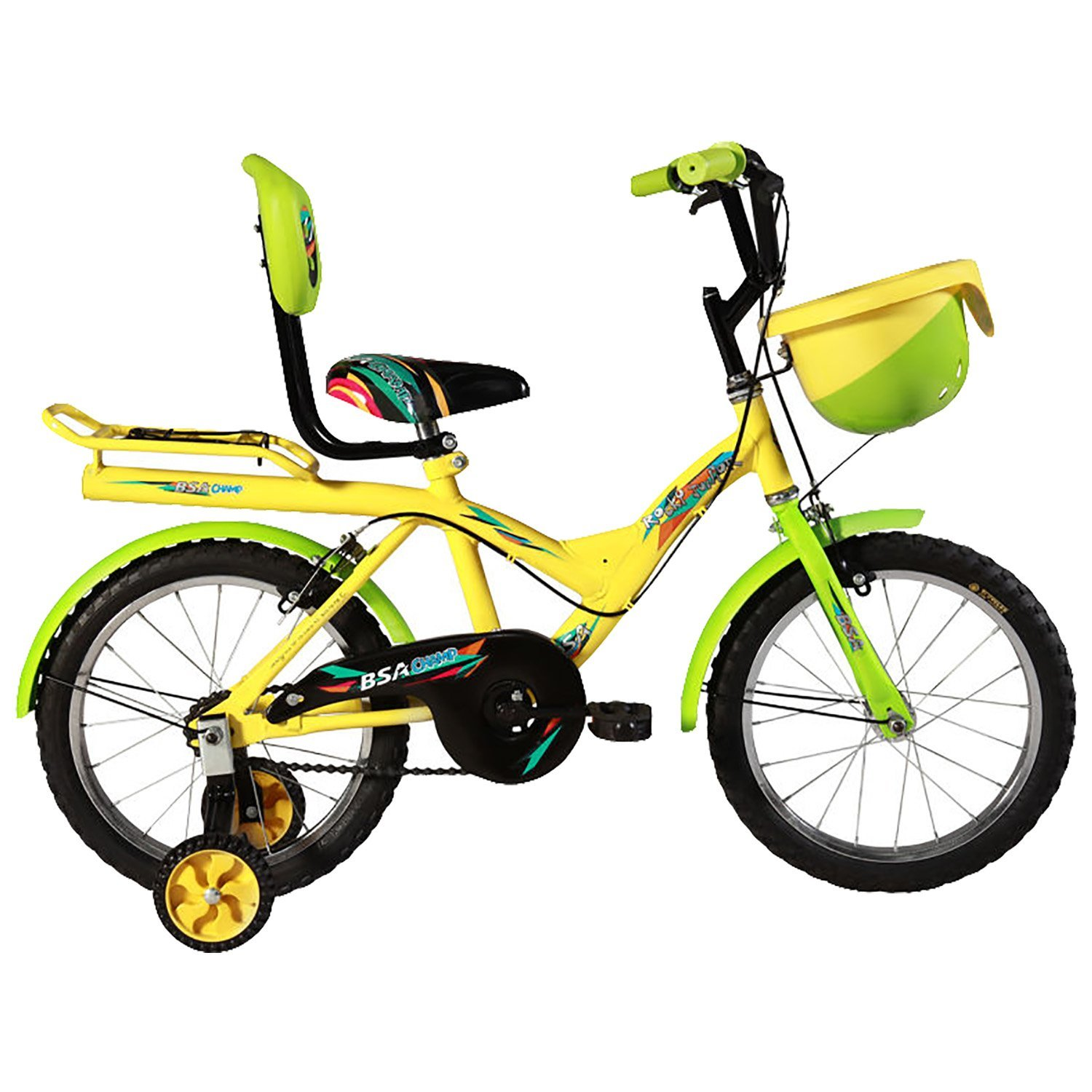 BSA Champ Rock Junior Bicycle, Yellow & Green - (16 Inch): Amazon.in ...