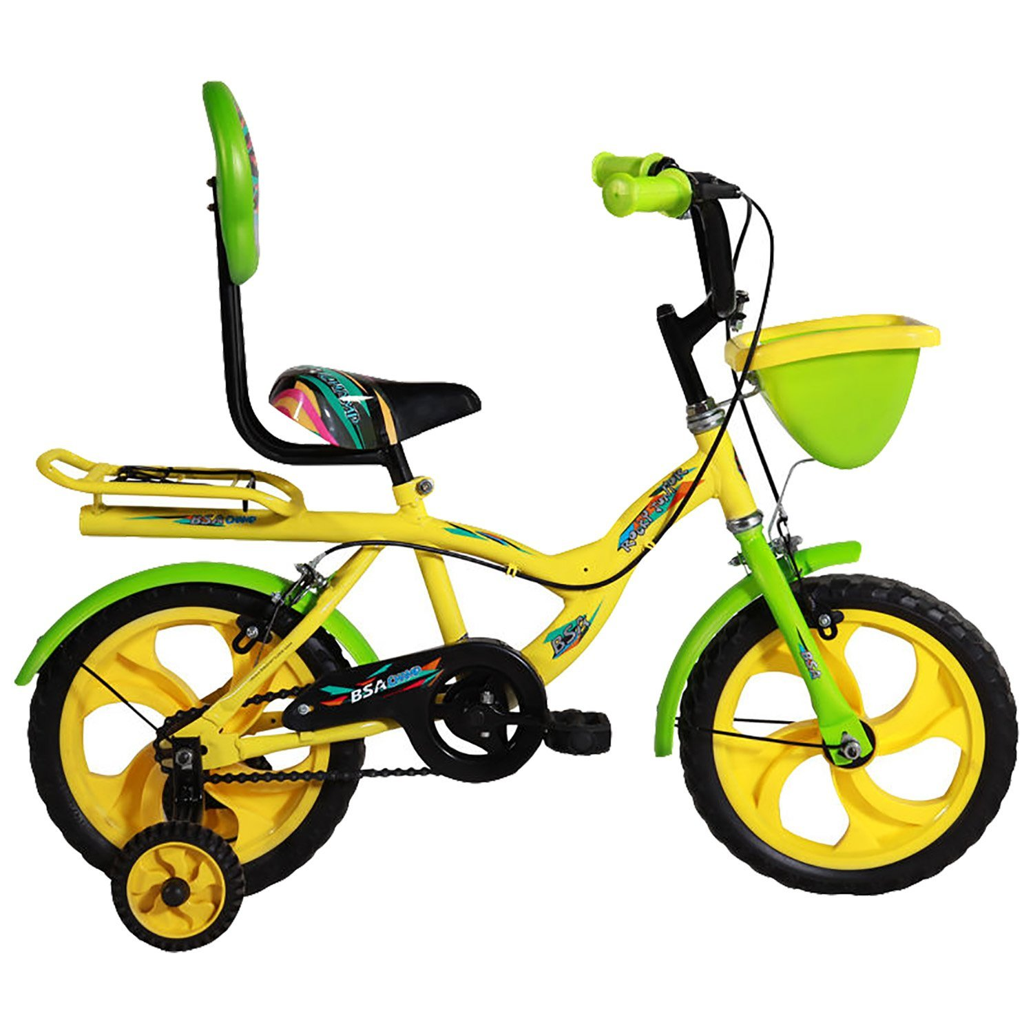 BSA Champ Rock Junior Bicycle, Yellow & Green - (14 Inch): Amazon.in ...