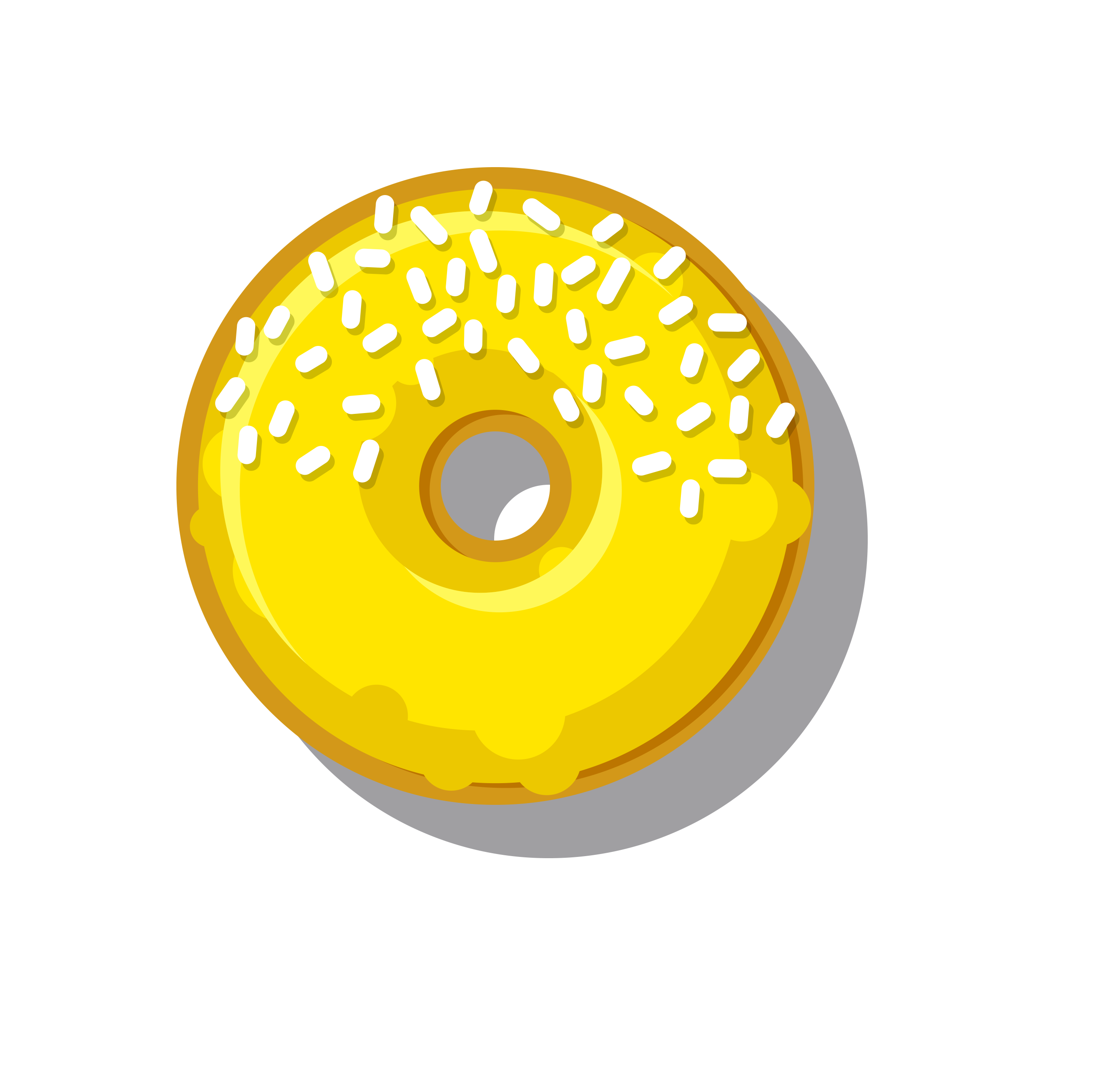 Yellow donut photo