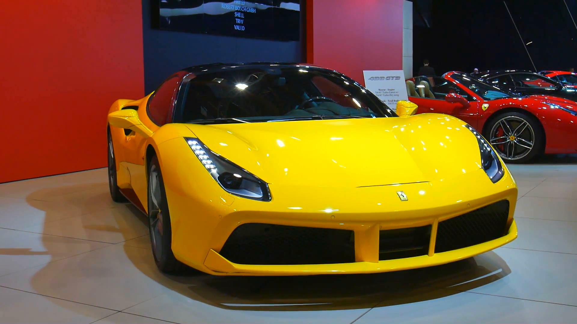 Free Photo Yellow Ferrari Car Auto Outdoors Yellow Free Download Jooinn