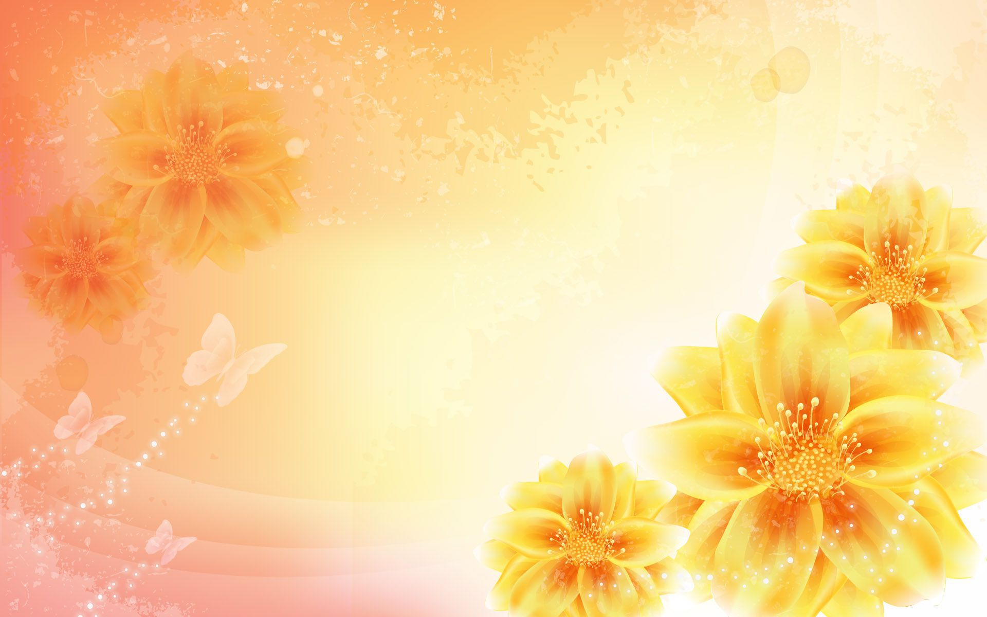 Yellow floral background photo