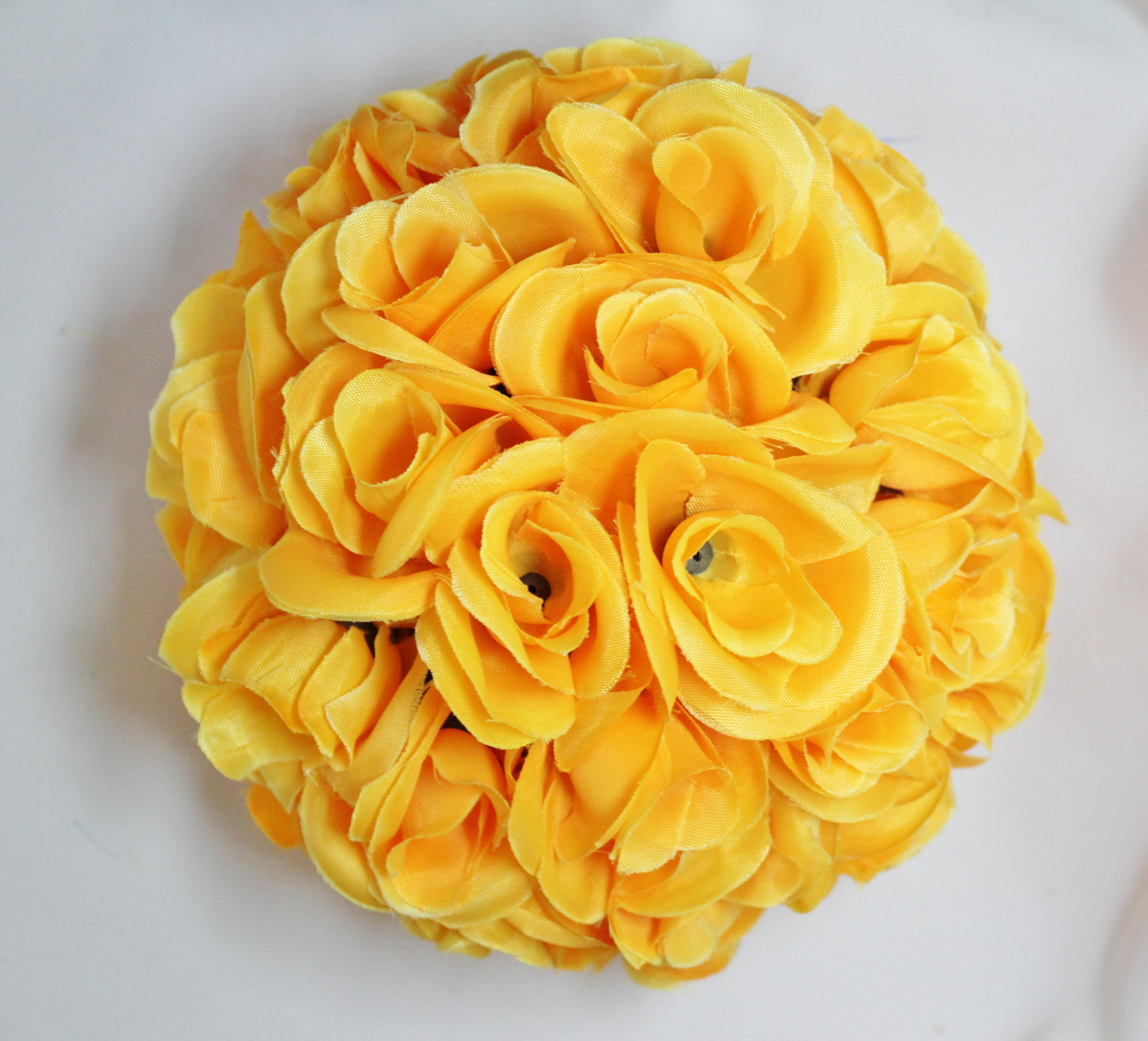 Yellow Flower Ball | LO Florist Supplies