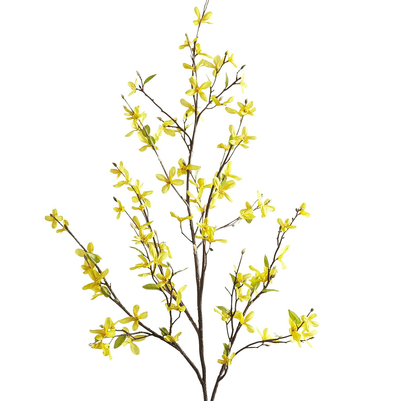 Yellow Faux Forsythia Branch   Pier 1 Imports