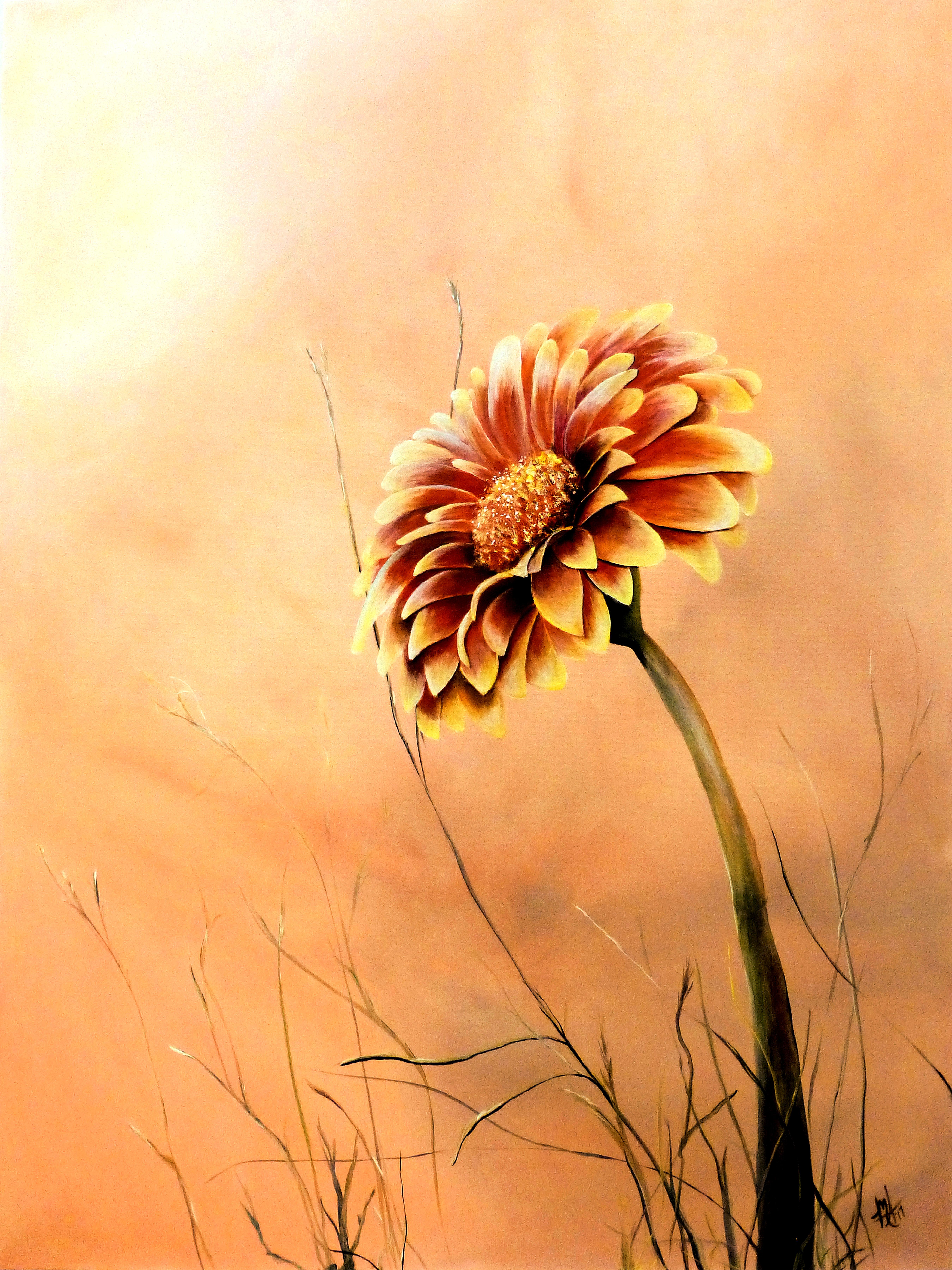Michelle Iglesias Artwork: red and yellow gerbera daisy | Original ...