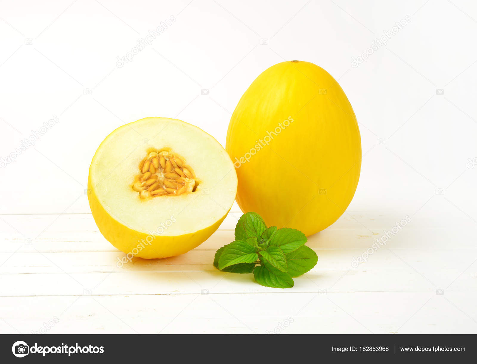 one and half yellow melons — Stock Photo © ajafoto #182853968